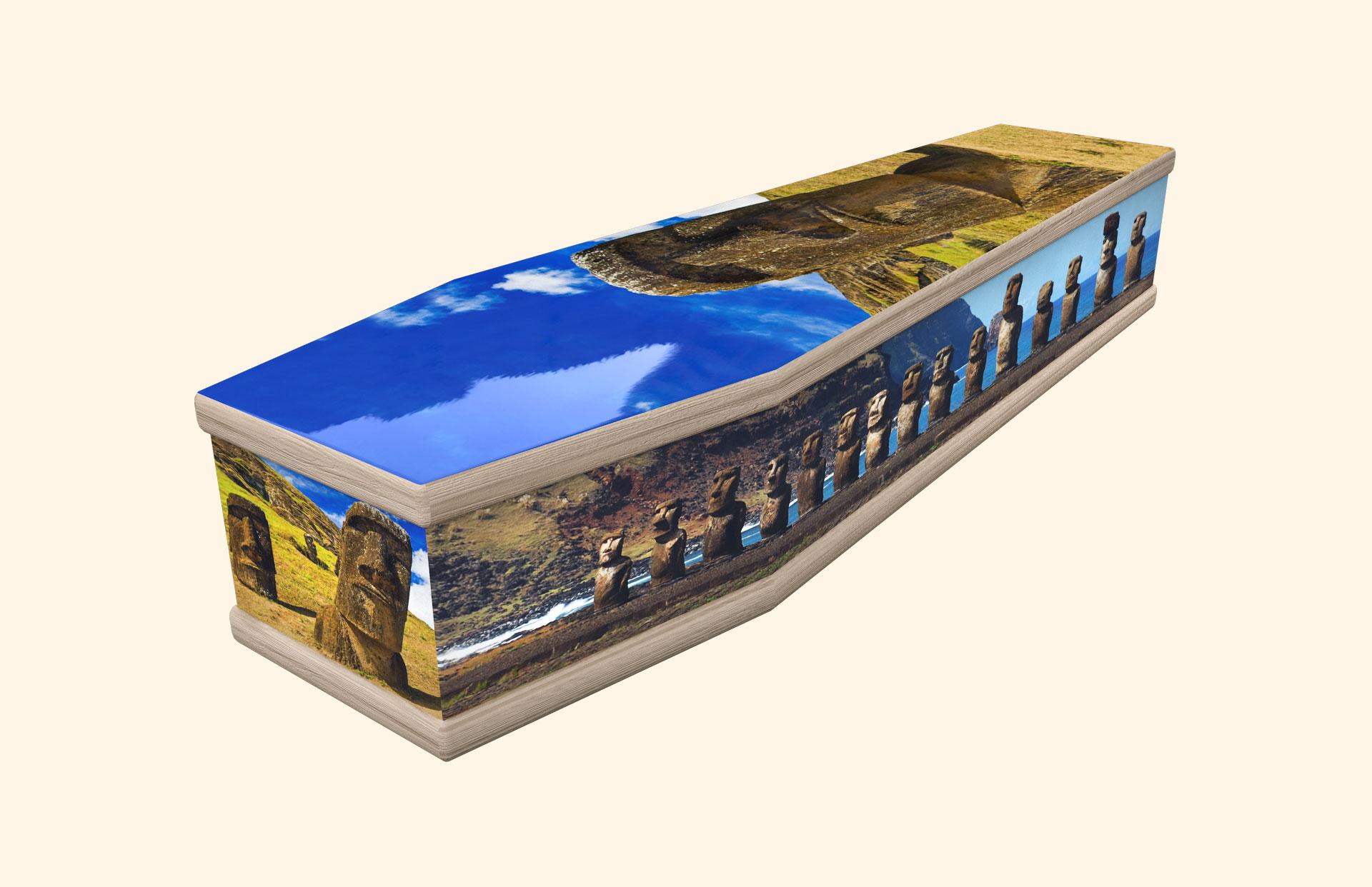 Moai Easter Island classic coffin