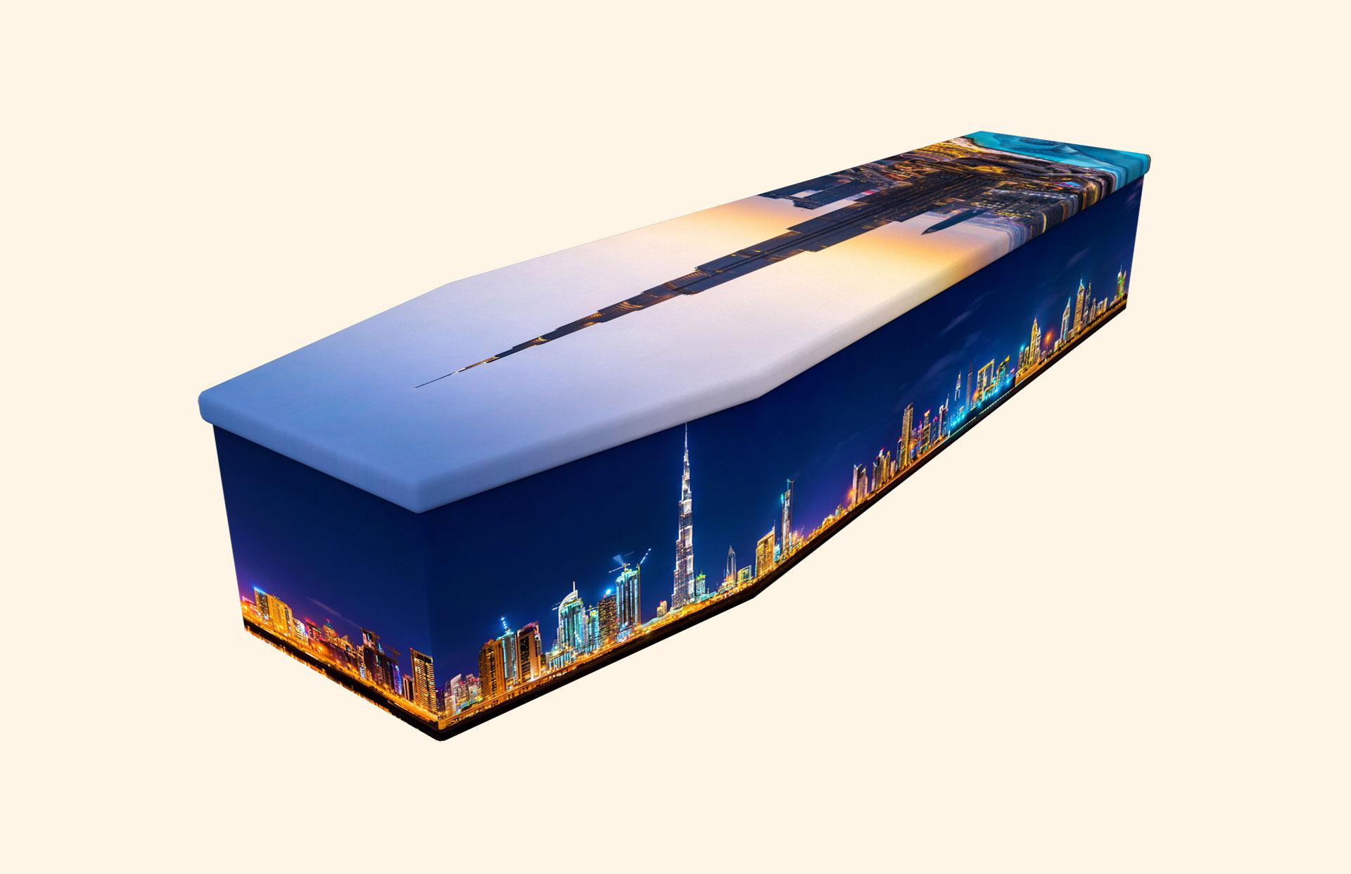 Burj Kahlifa cardboard coffin