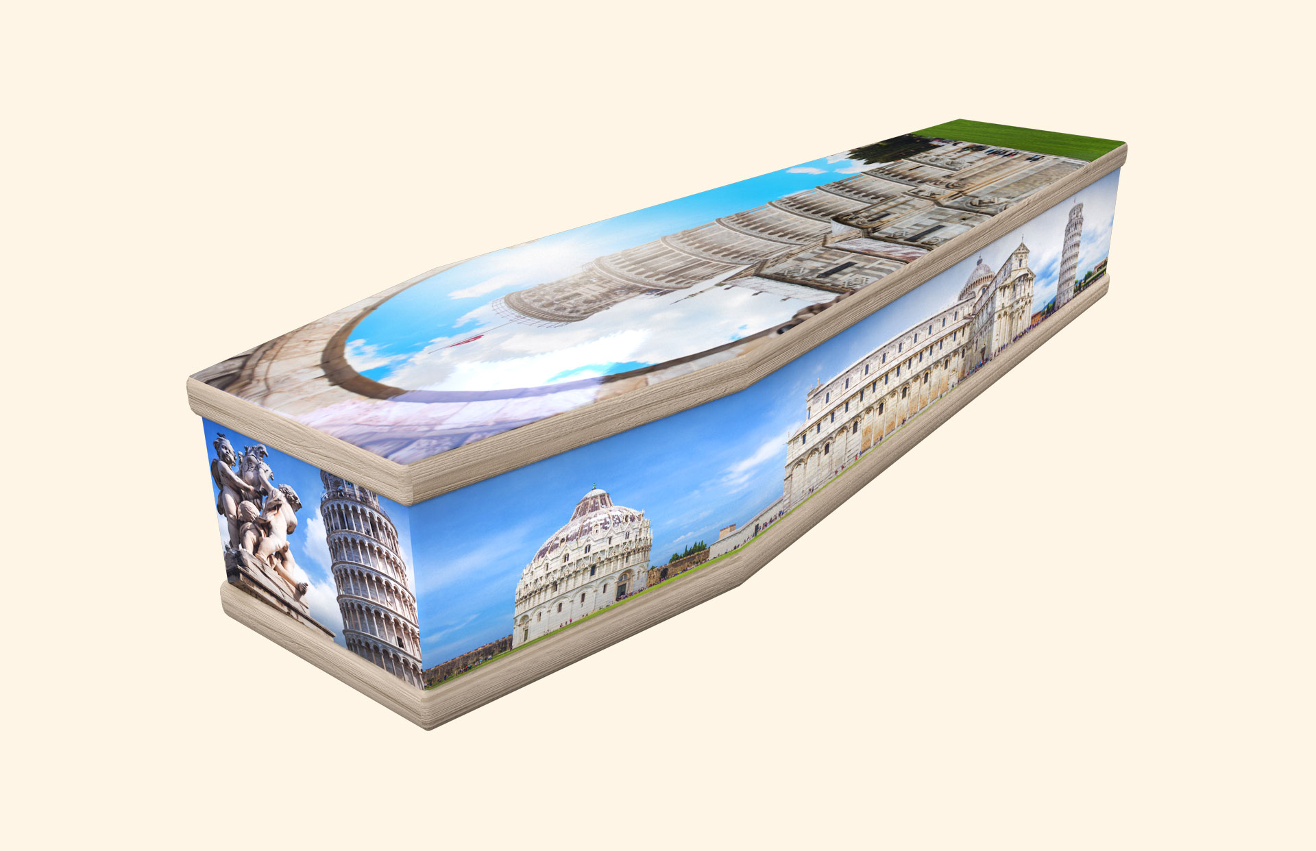 Leaning Tower of Pisa classic coffin