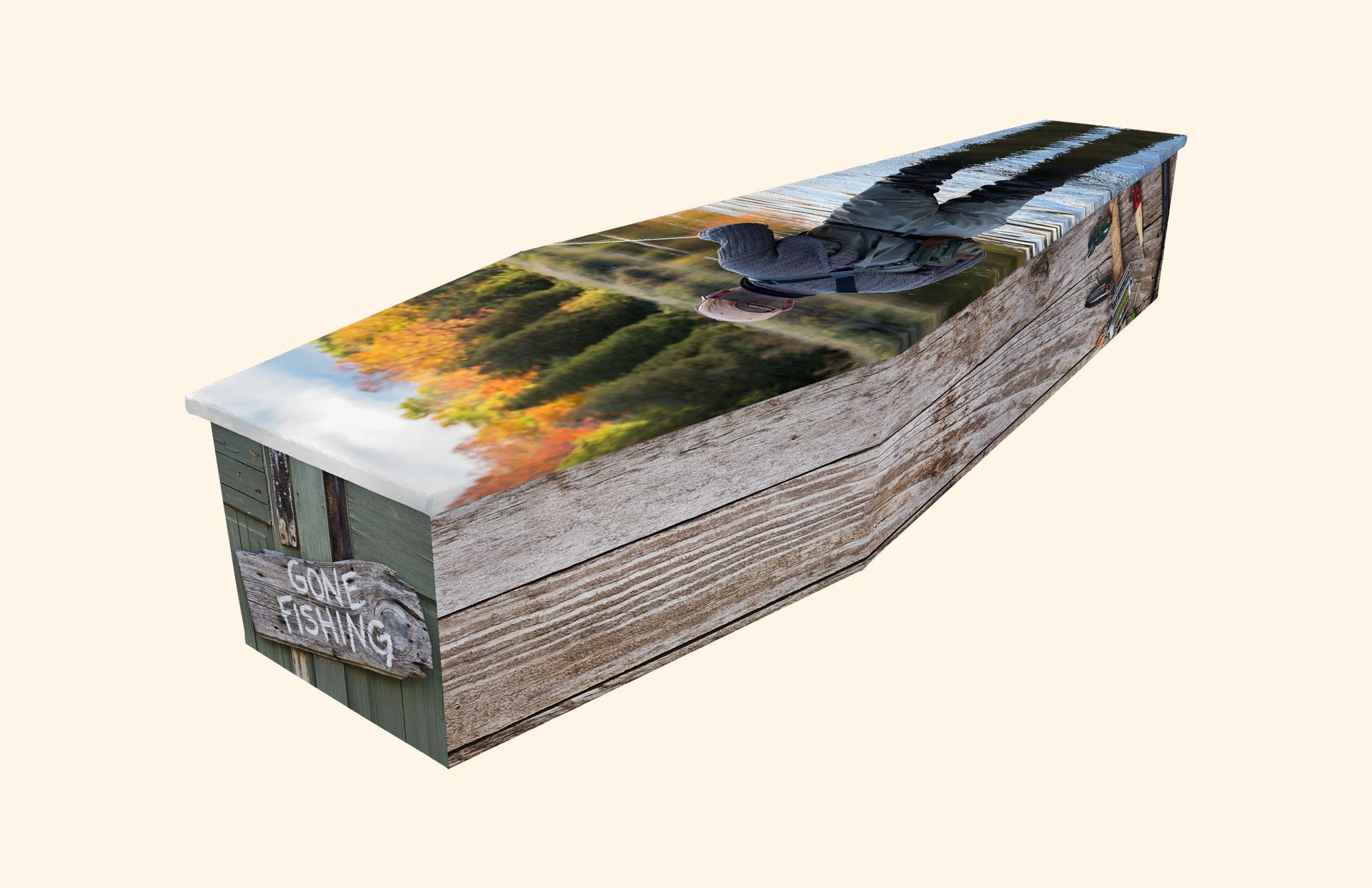 Fishing Tackle cardboard coffin