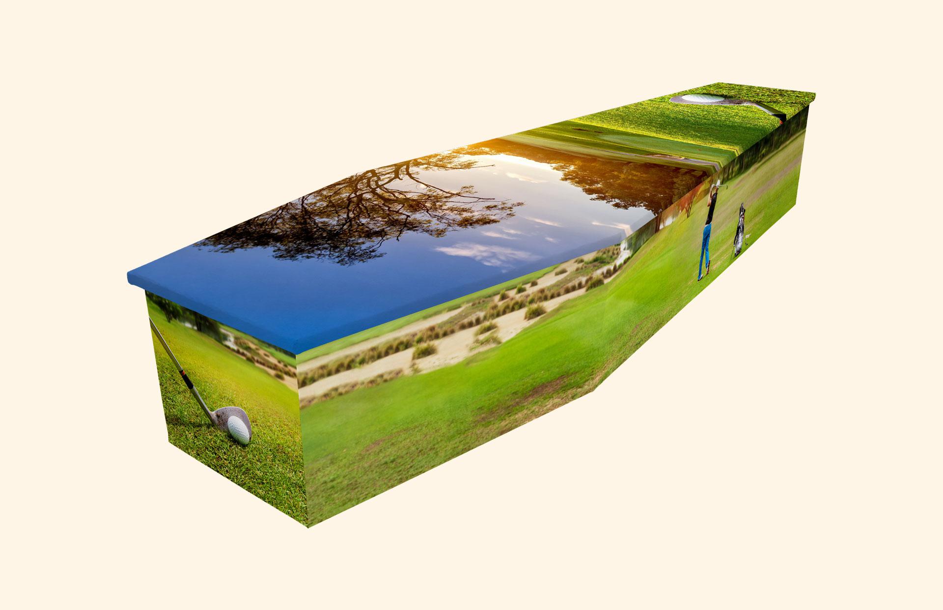 Hole in One cardboard coffin