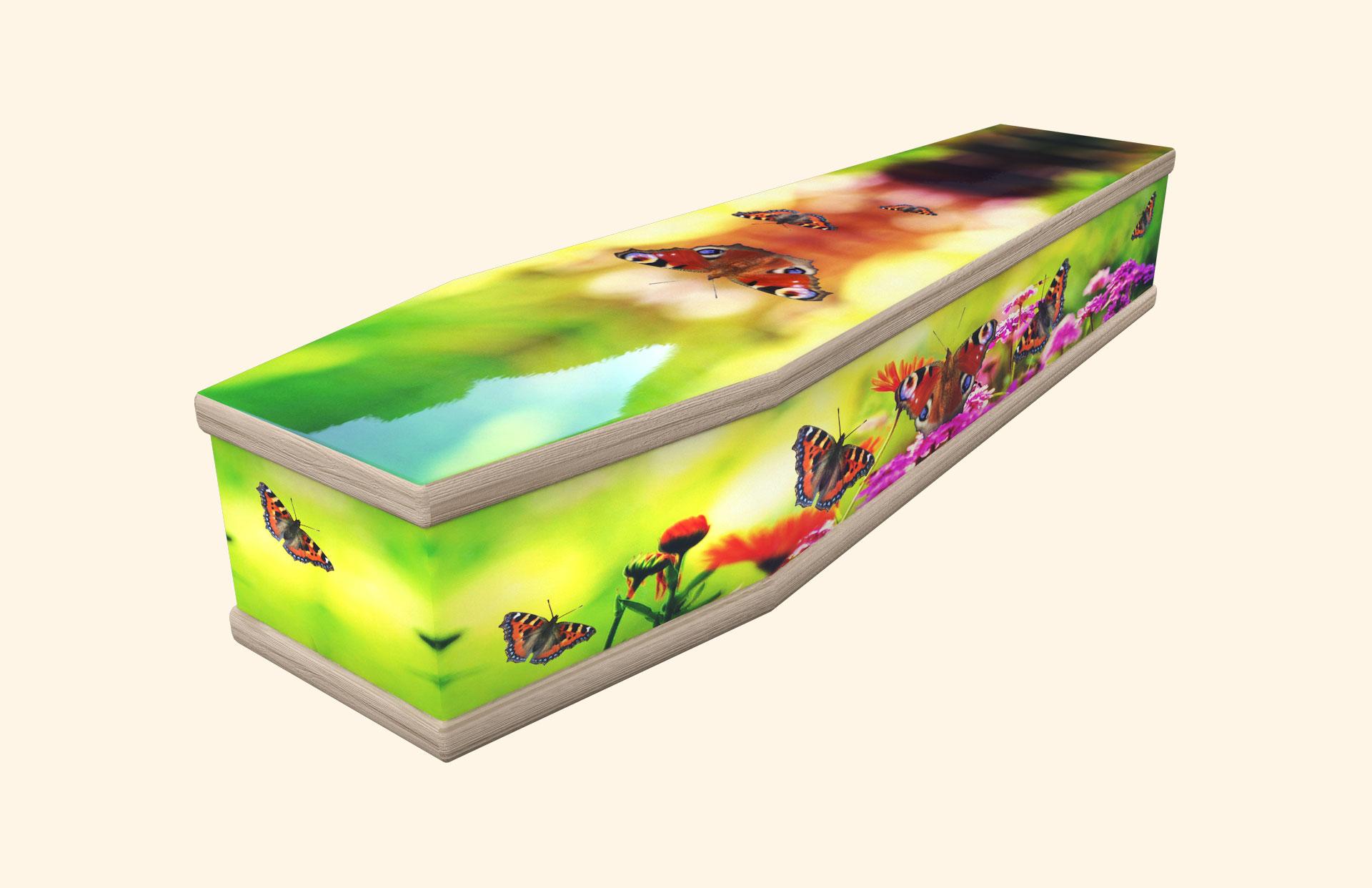 Dancing Butterflies in a classic coffin