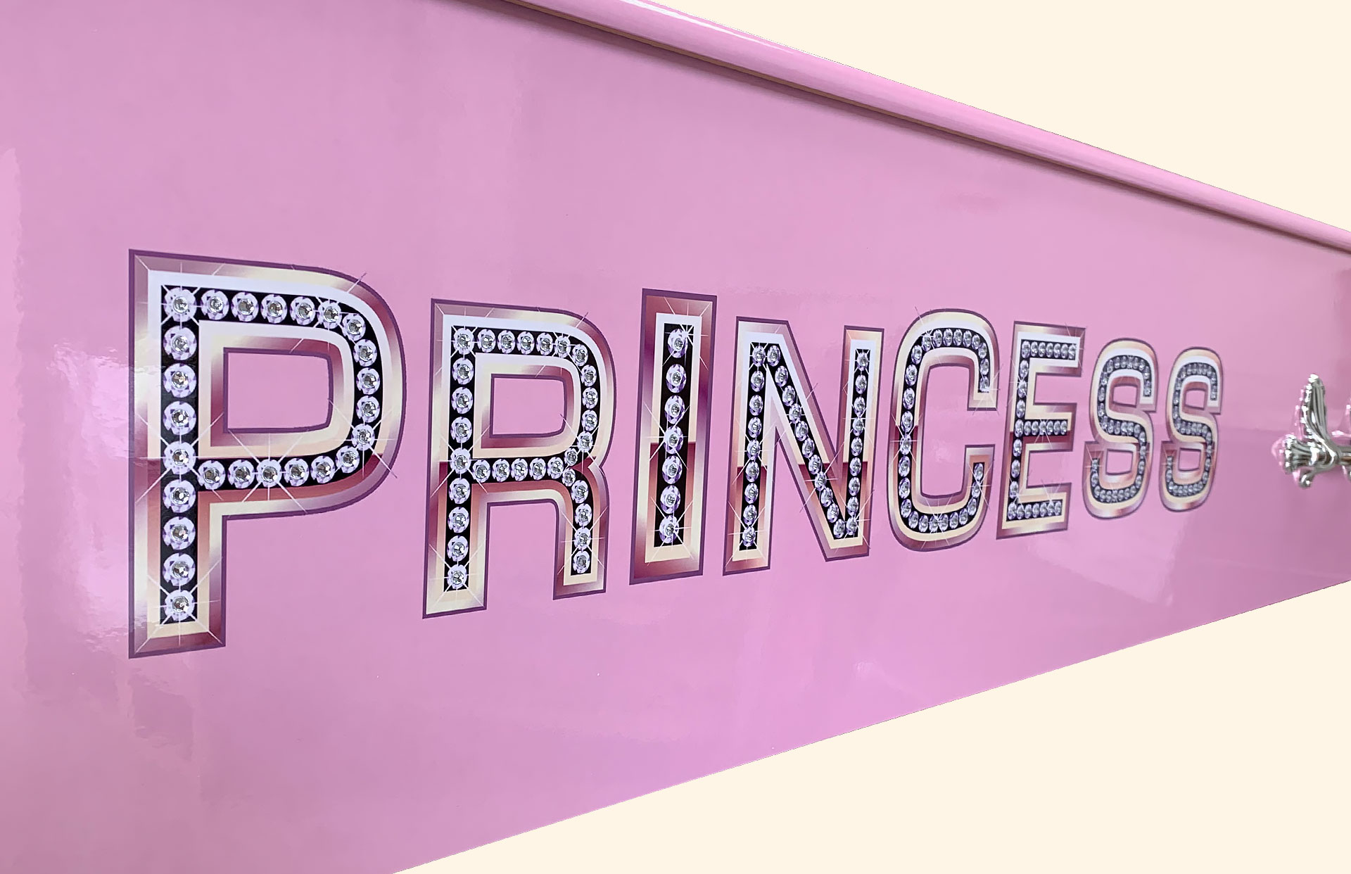Princess wording with crystals