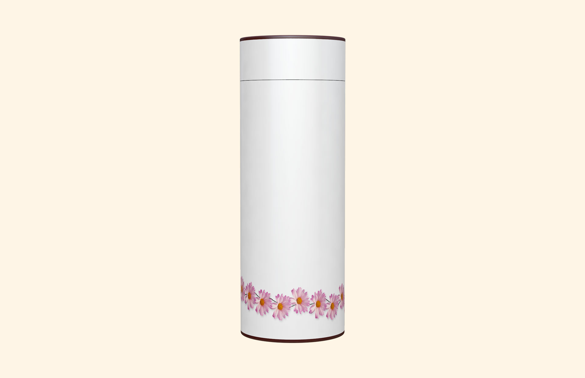 White with Pink Daisy Scatter Tube