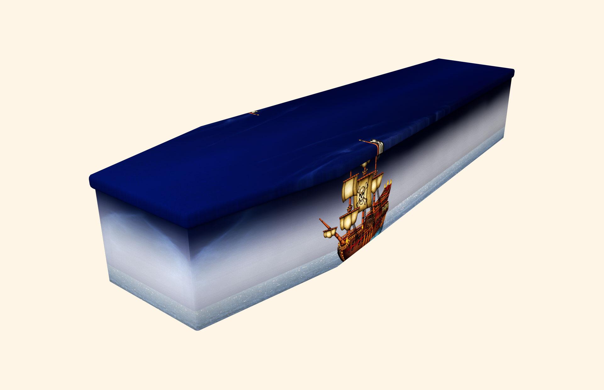 Pirate Ship Cardboard coffin