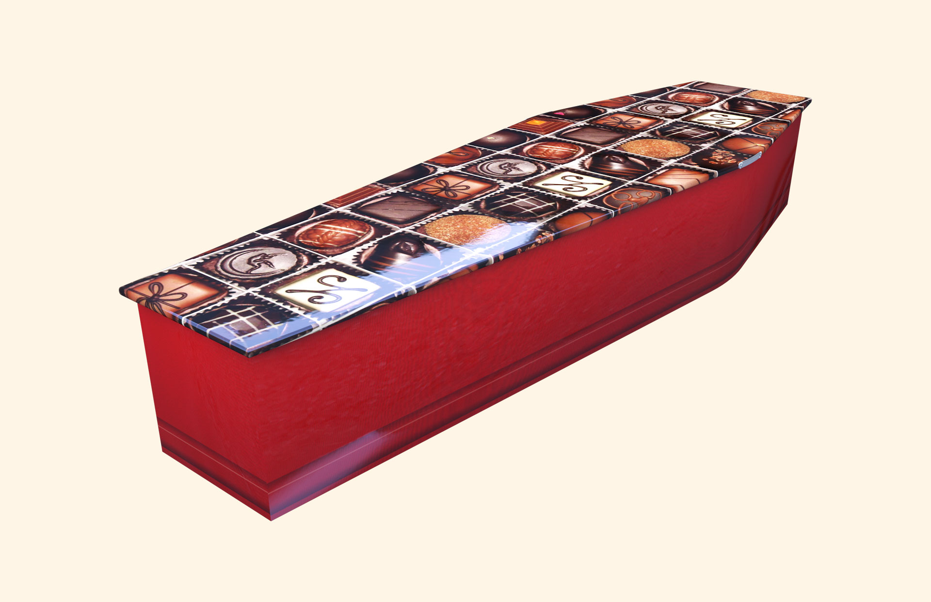Chocoholic Traditional Coffin Footend view