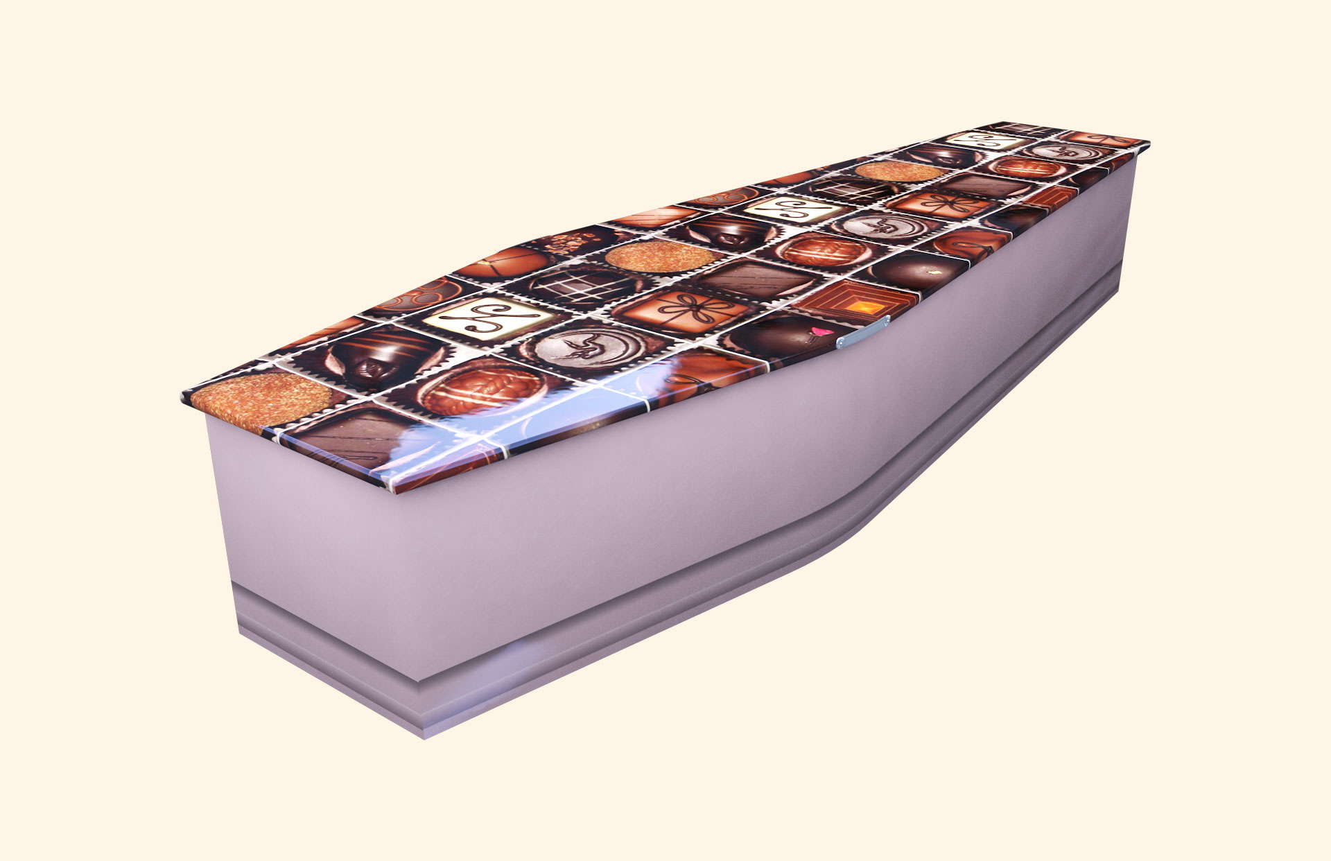 Chocoholic Lilac Traditional Coffin