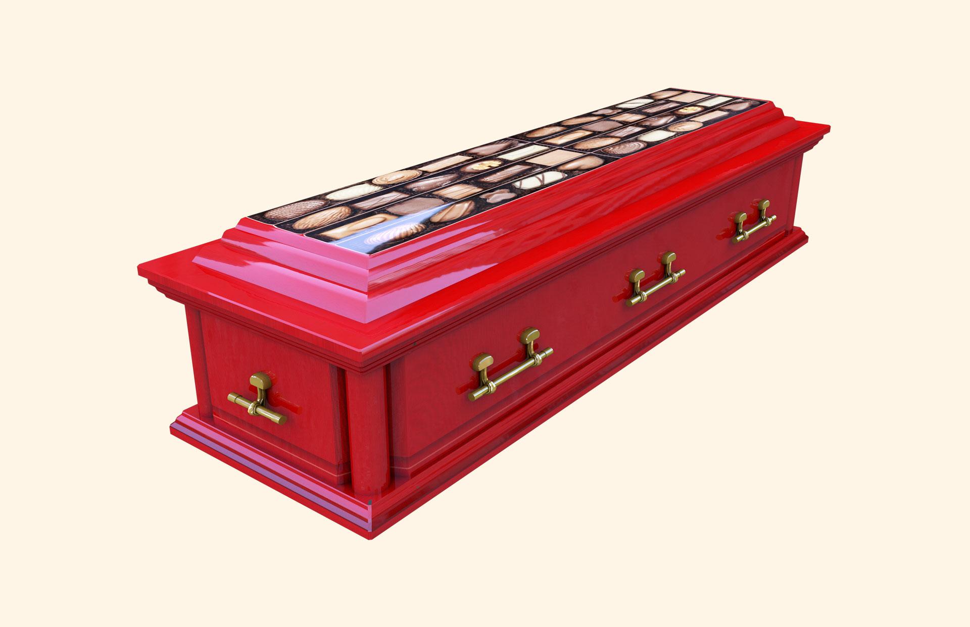 Chocoholic C Huthwaite Wooden American Casket