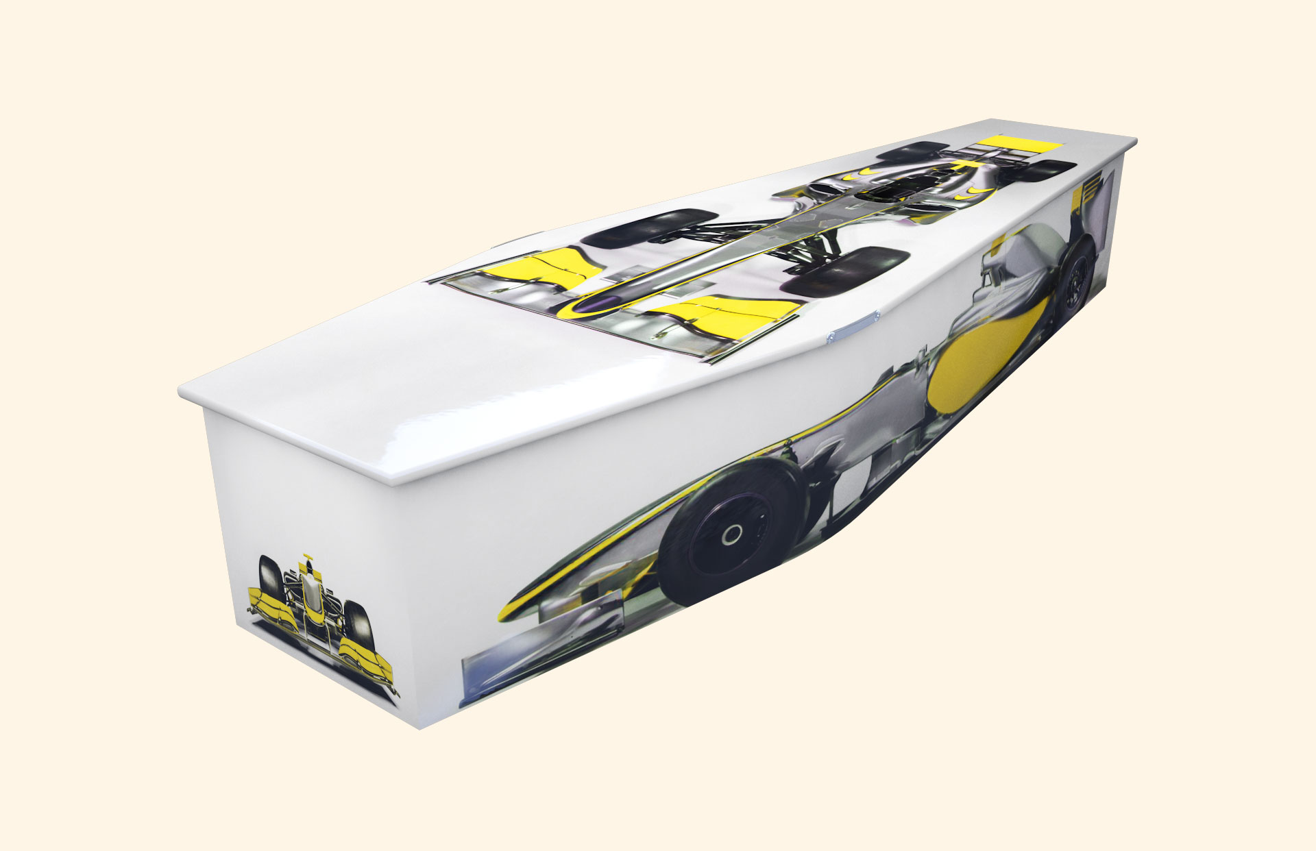 Racing Moments Yellow Traditional coffin
