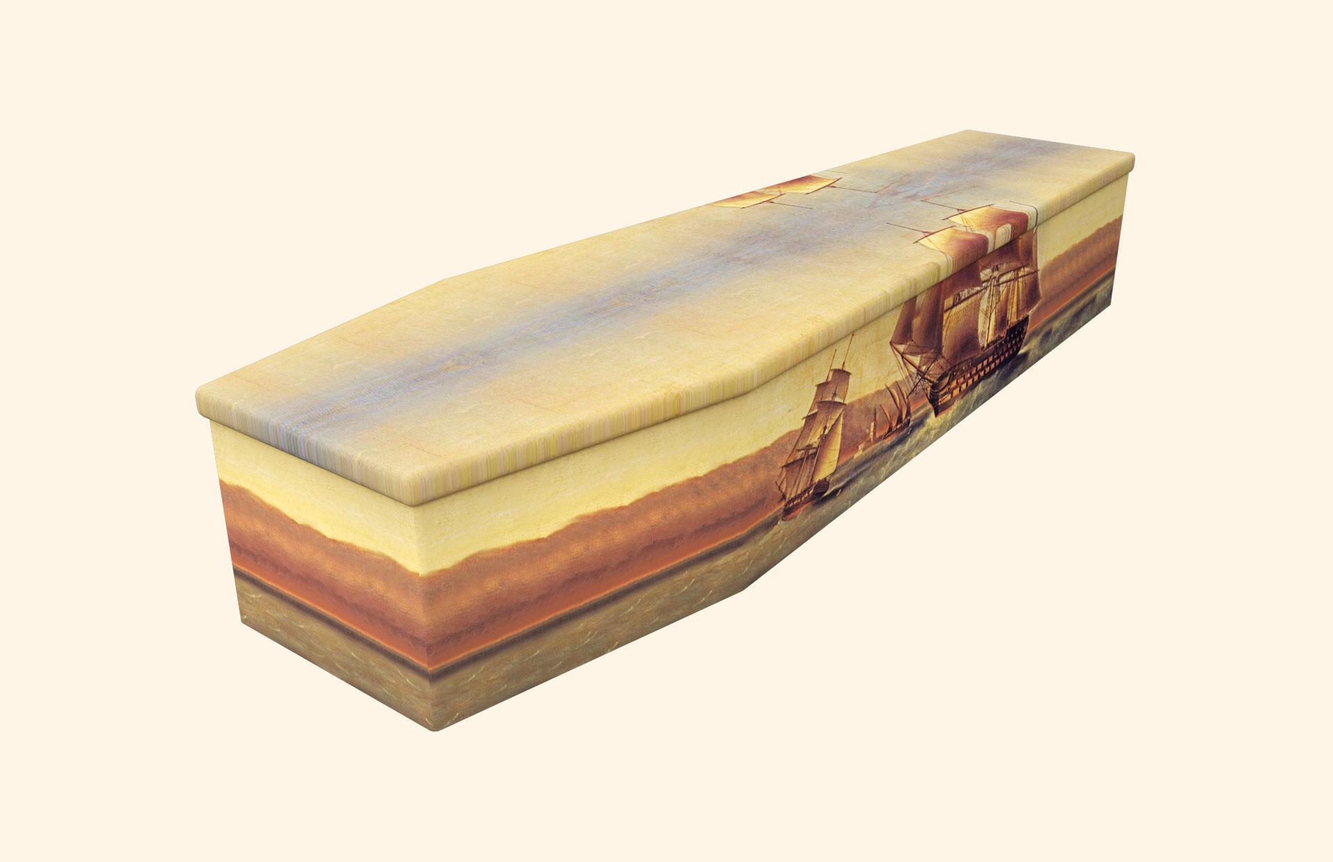 Set Sail (Old Ship) Cardboard coffin