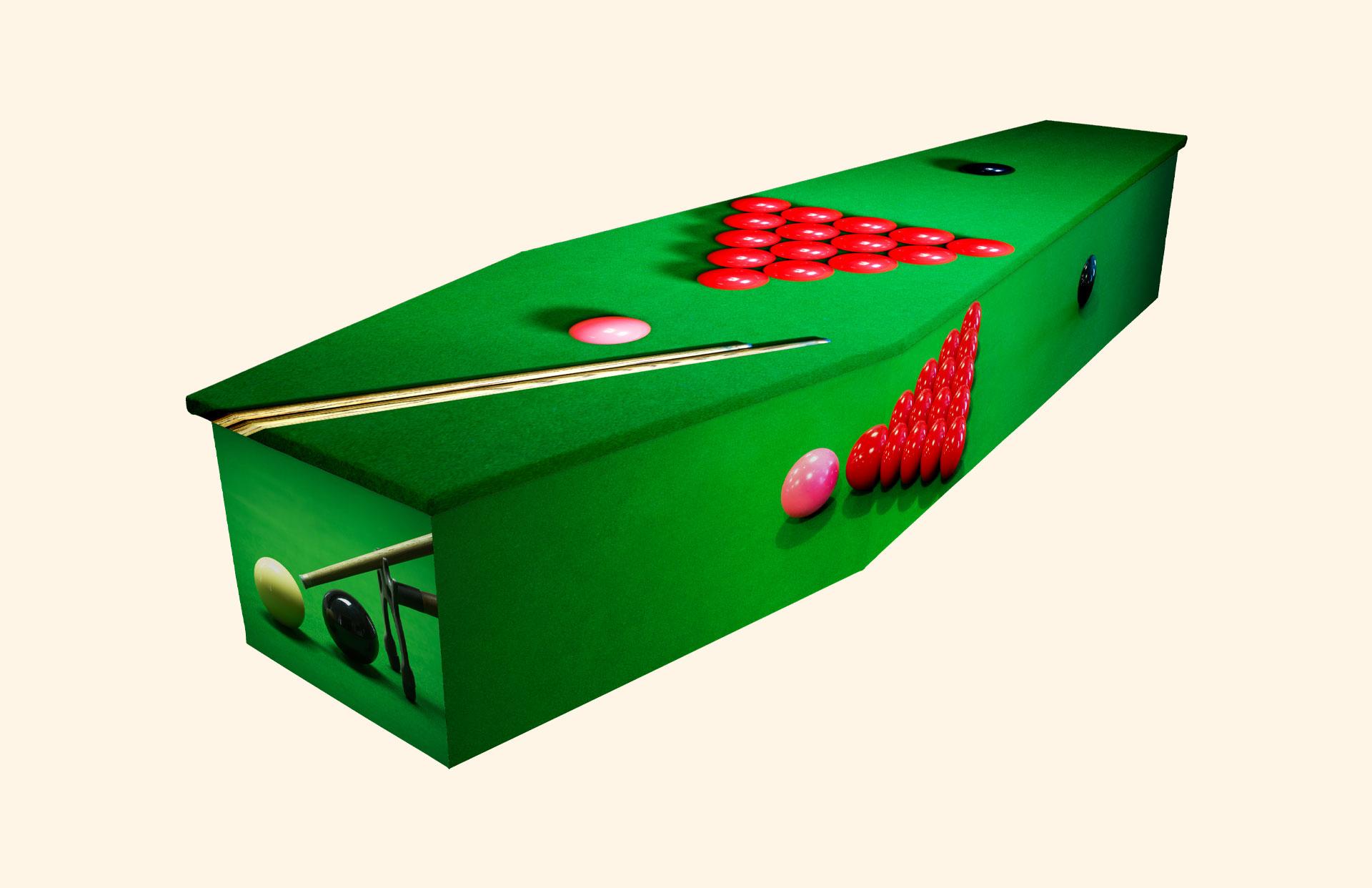 Snooker cardboard coffin