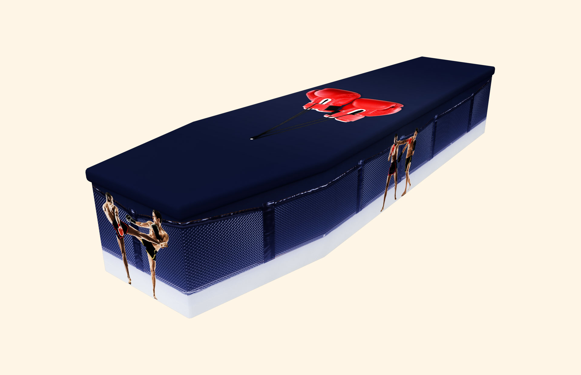 Ultimate Fighting Cardboard coffin
