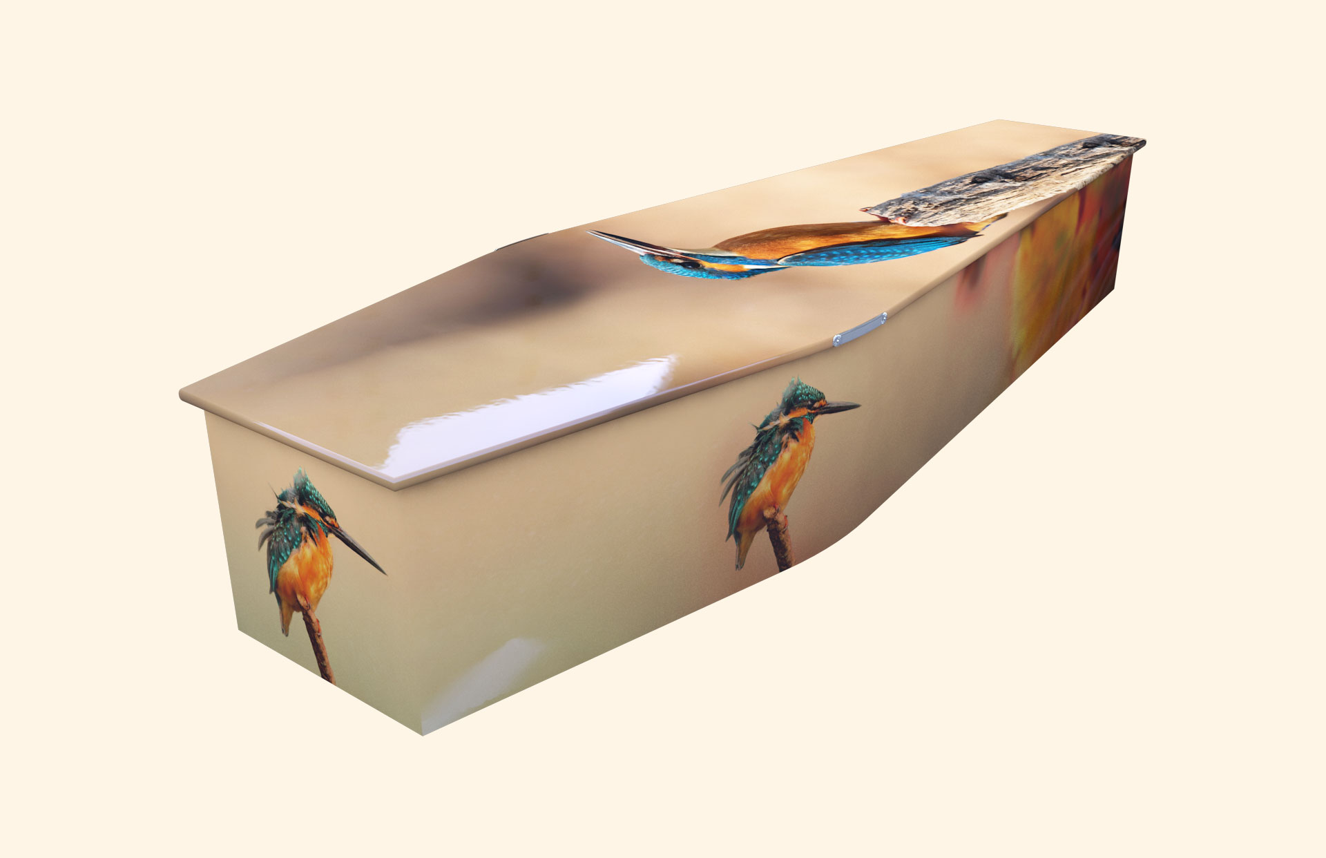 Kingfisher autumn traditional coffin