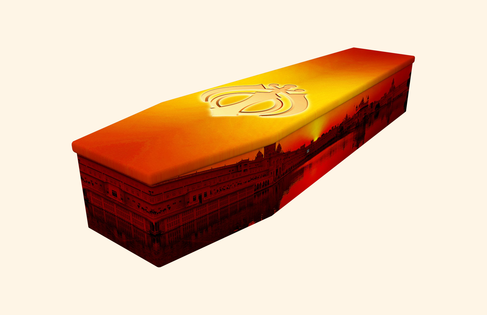 Sikh Sunset Cardboard coffin