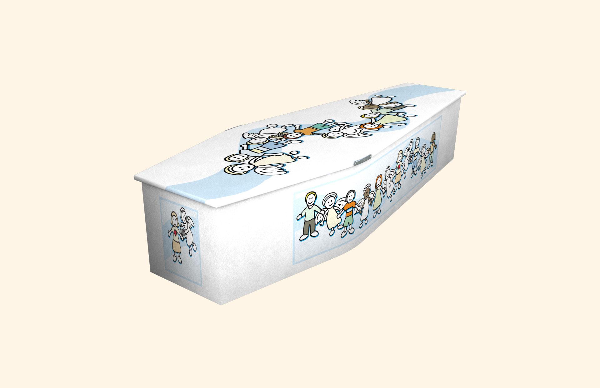 New Angel Blue child coffin