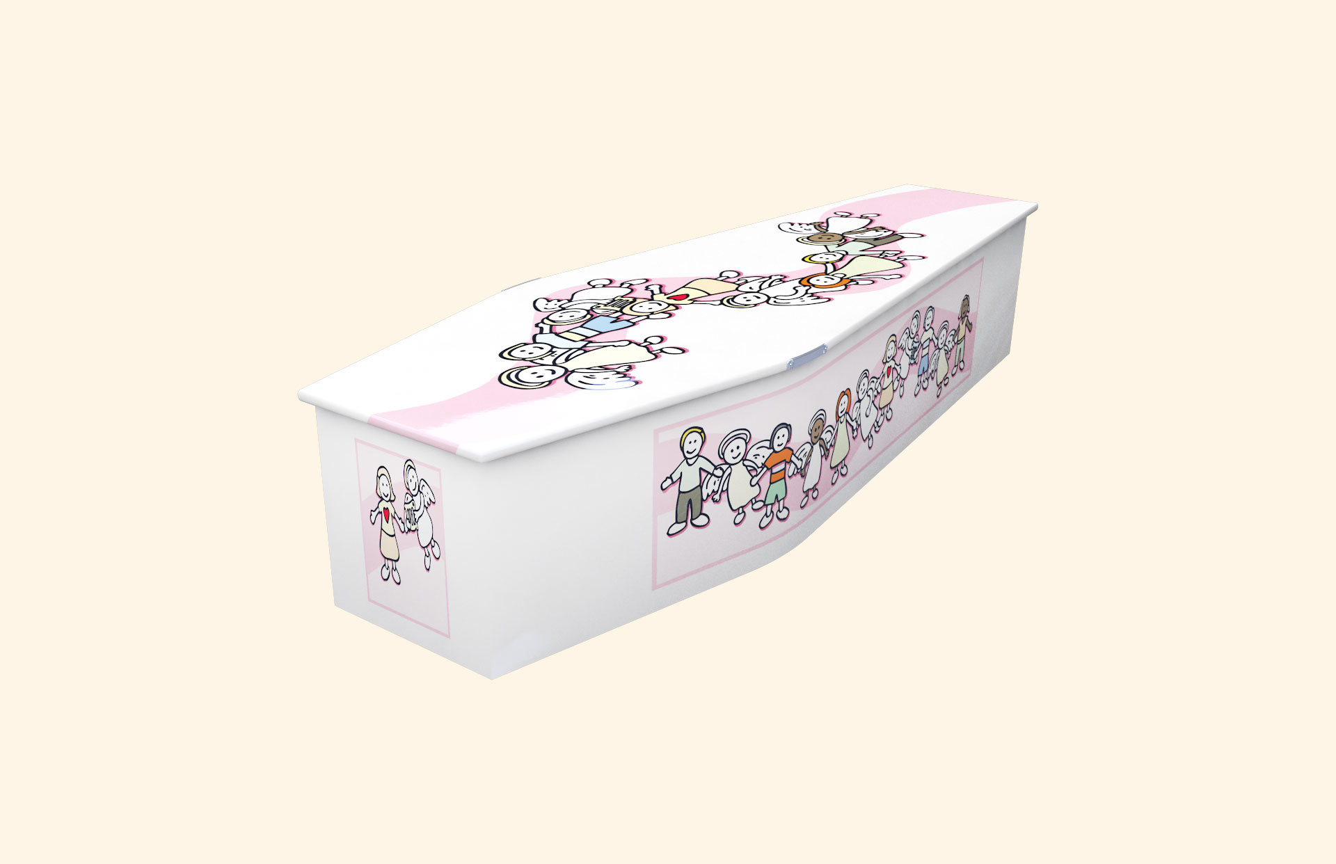 New Angel Pink child coffin