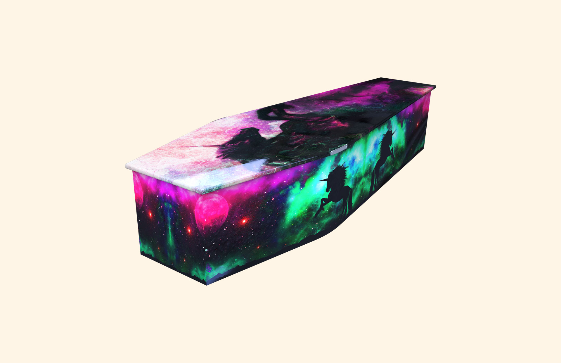 Unicorn Magic child coffin