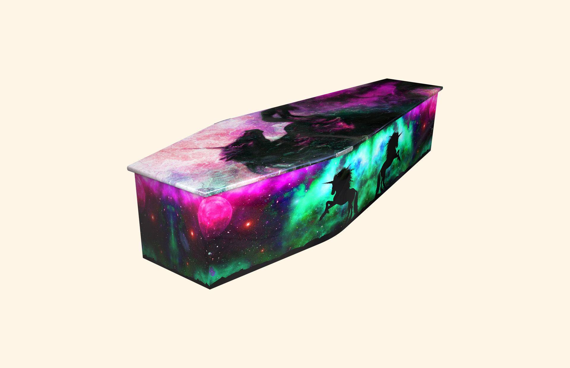 Unicorn Magic child coffin