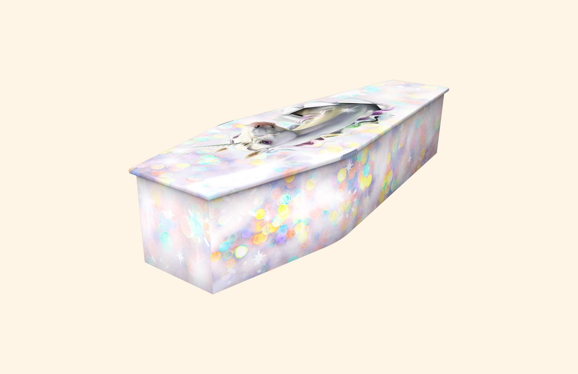 Unicorn Sparkle child coffin