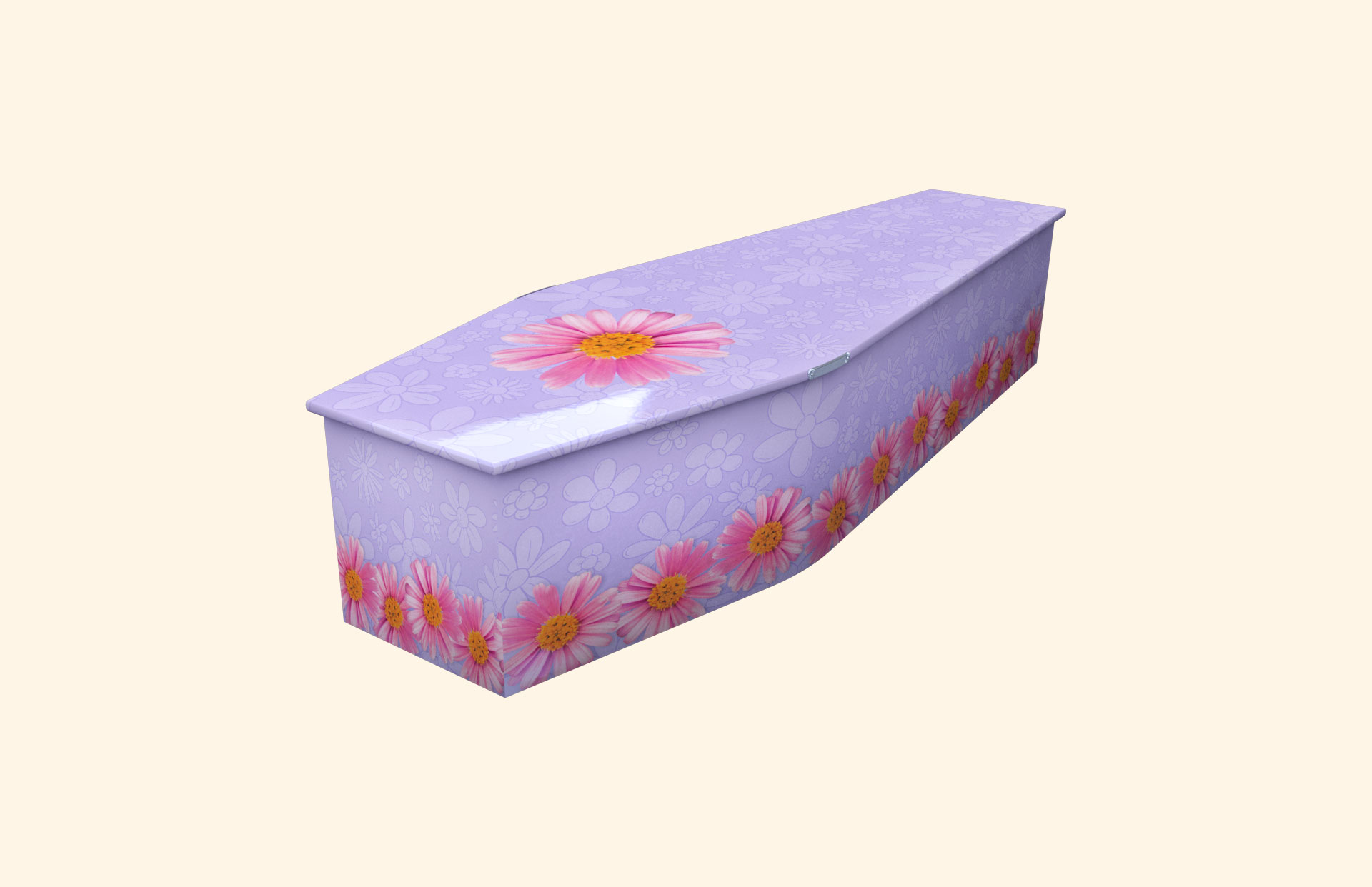 Chain of Daisies lilac child coffin