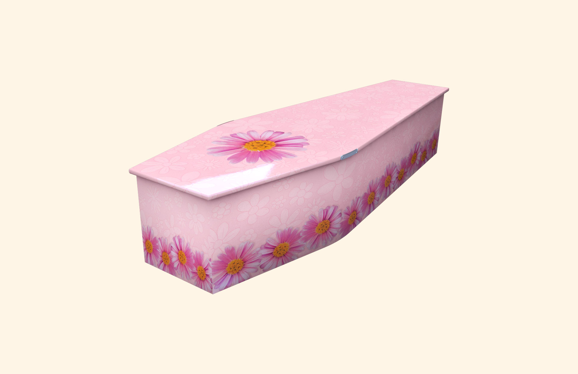 Chain of Daisies pink child coffin