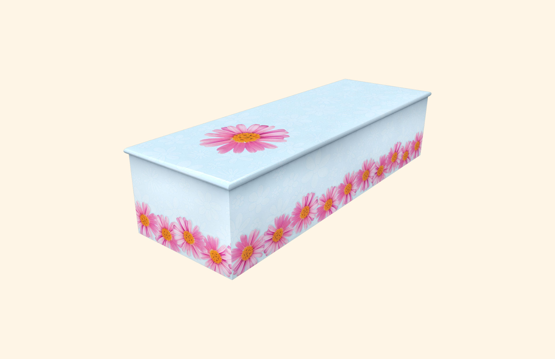 Chain of Daisies skyblue child casket