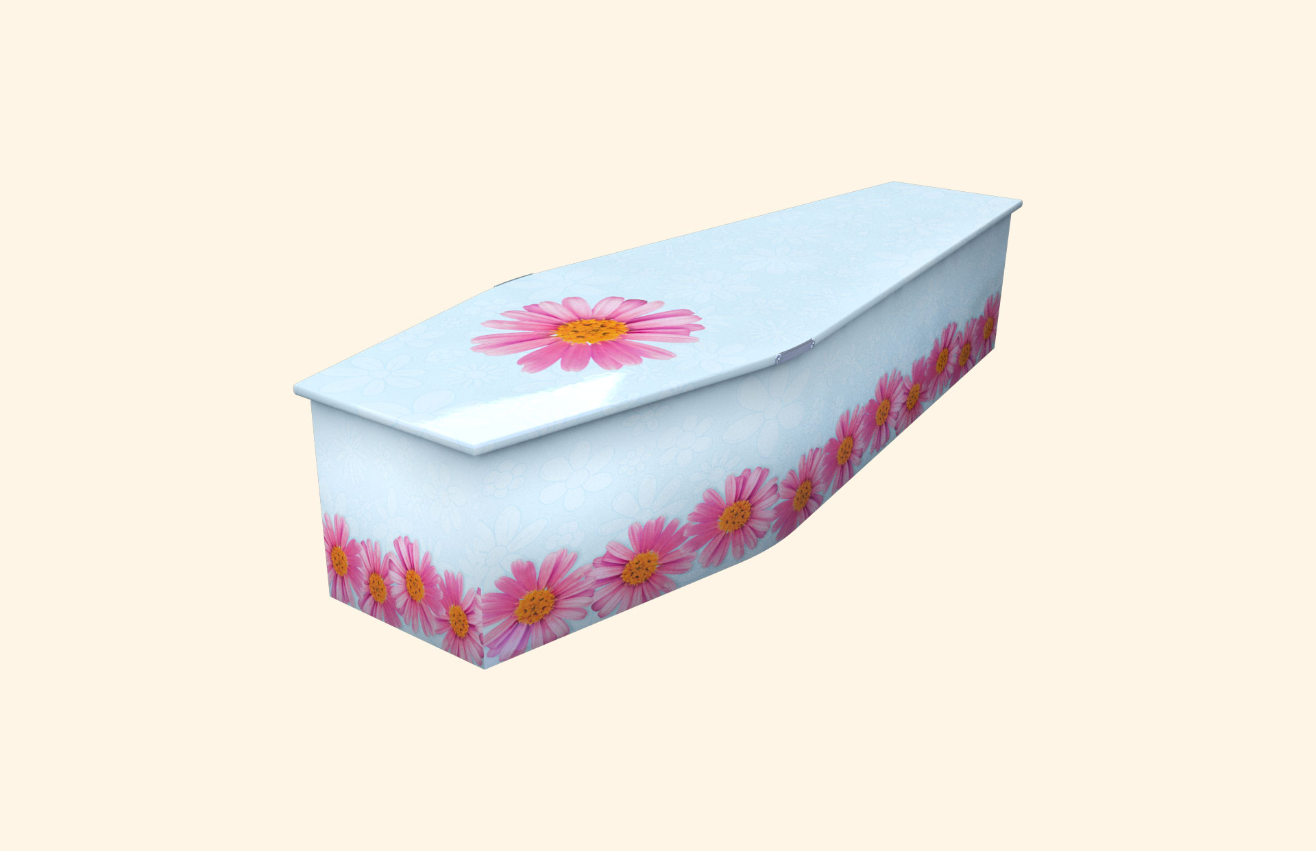 Chain of Daisies skyblue child coffin