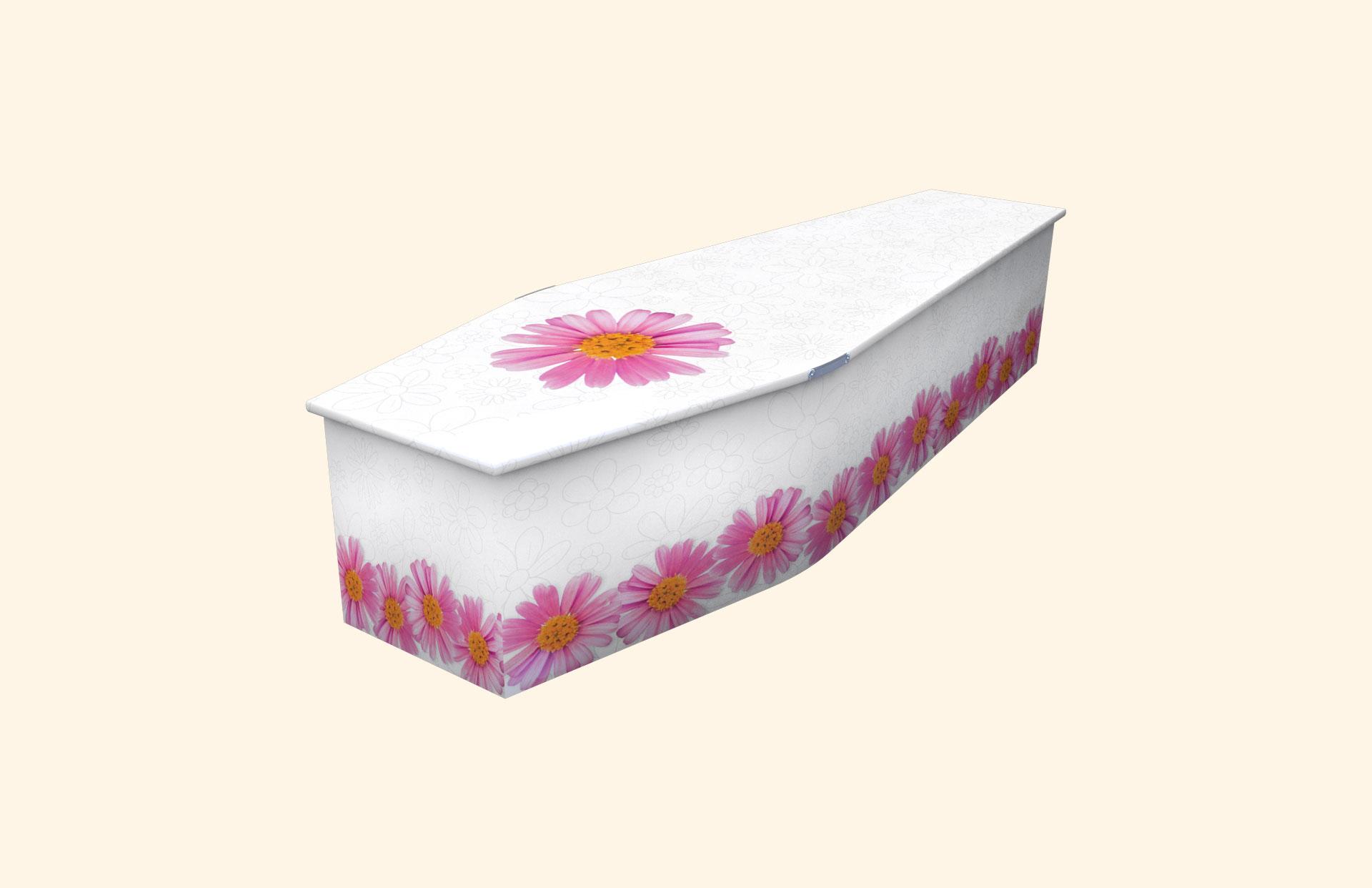 Chain of Daisies white child coffin
