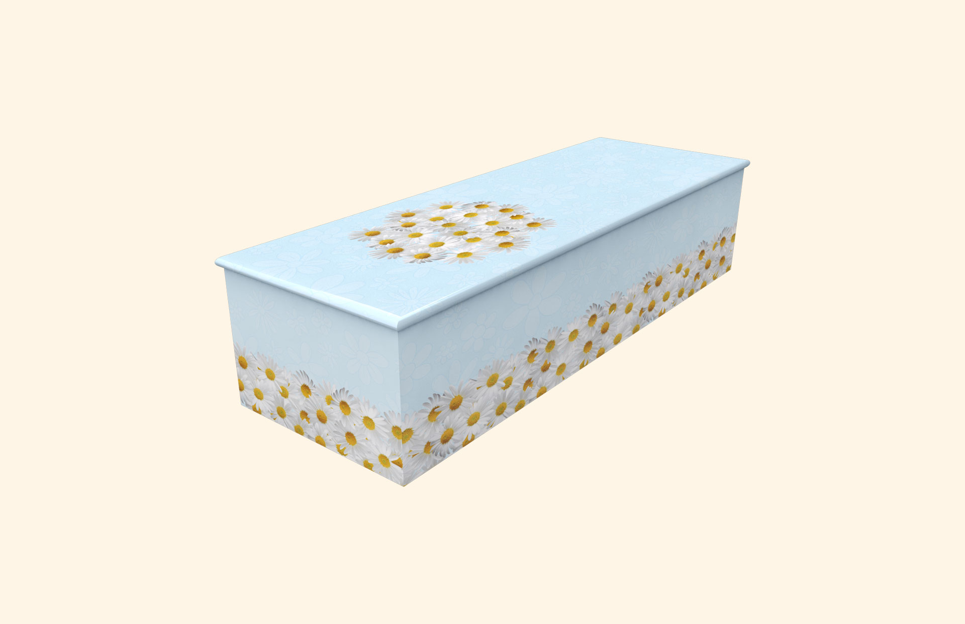 Bed of Daisies blue child casket