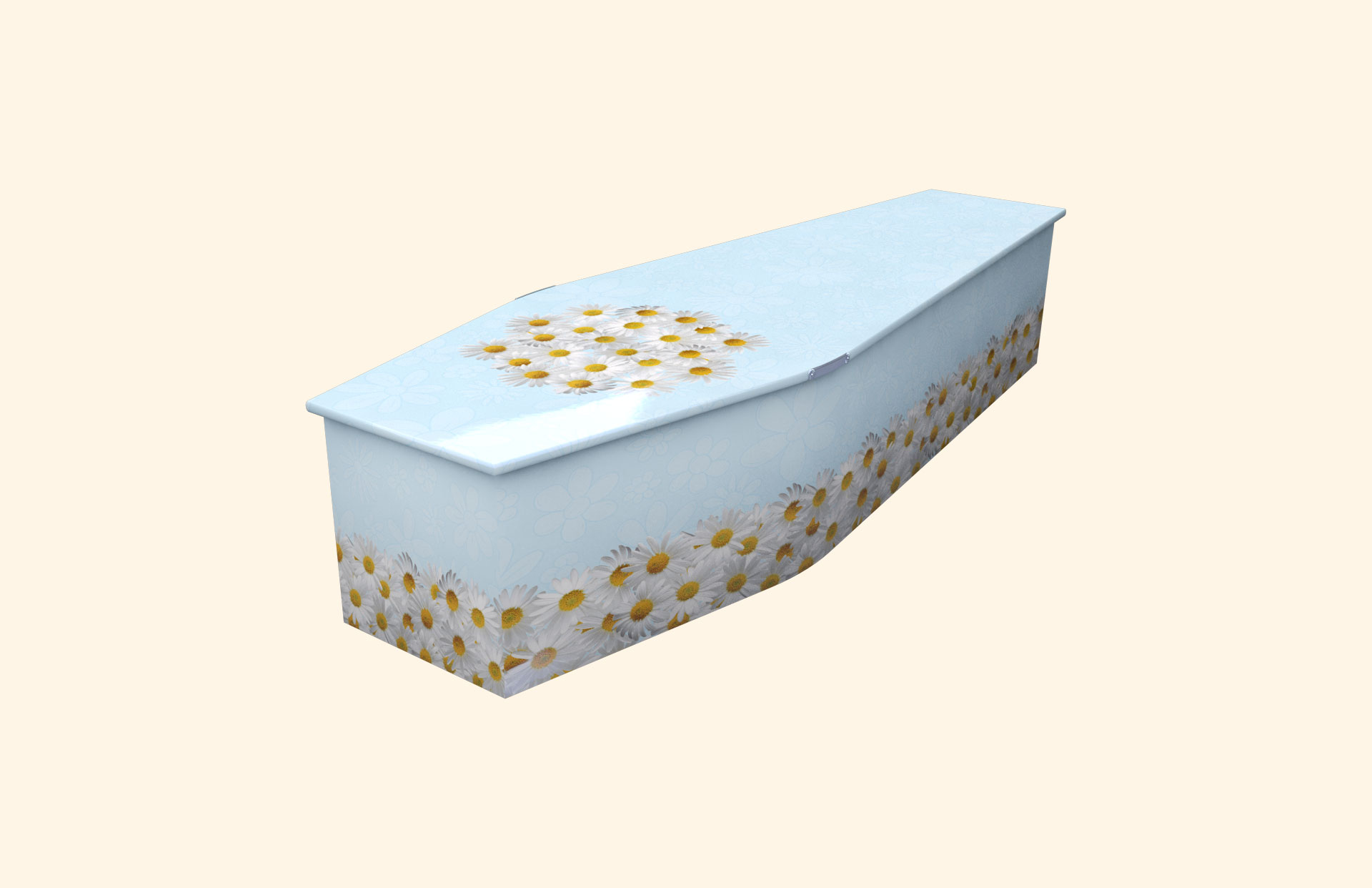 Bed of Daisies blue child coffin