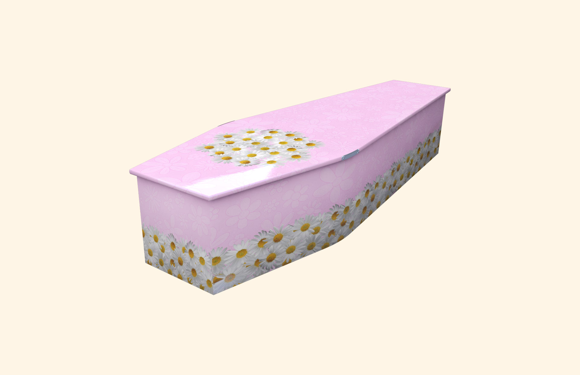Bed of Daisies pink child coffin