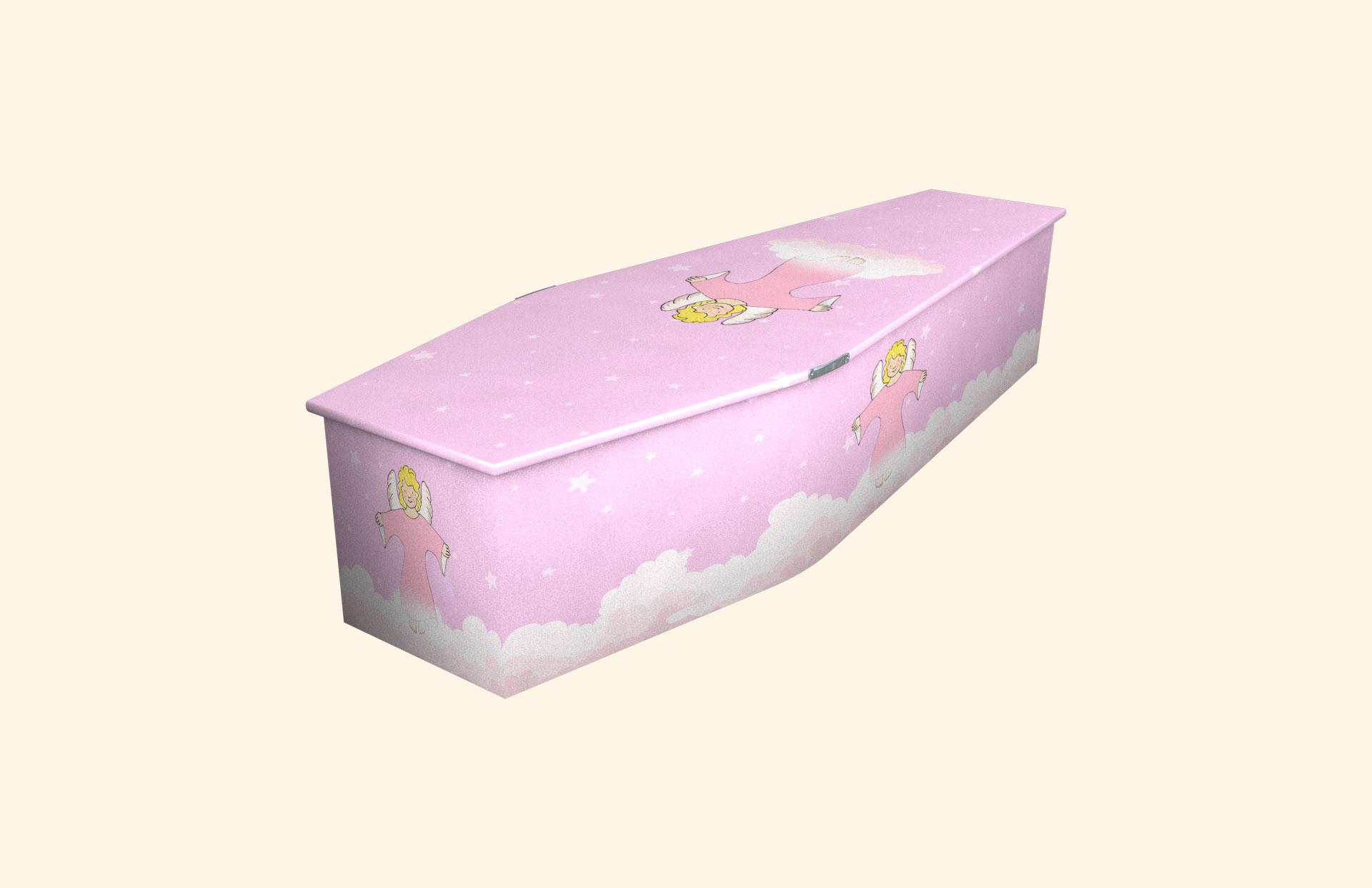 Pink Angel child coffin