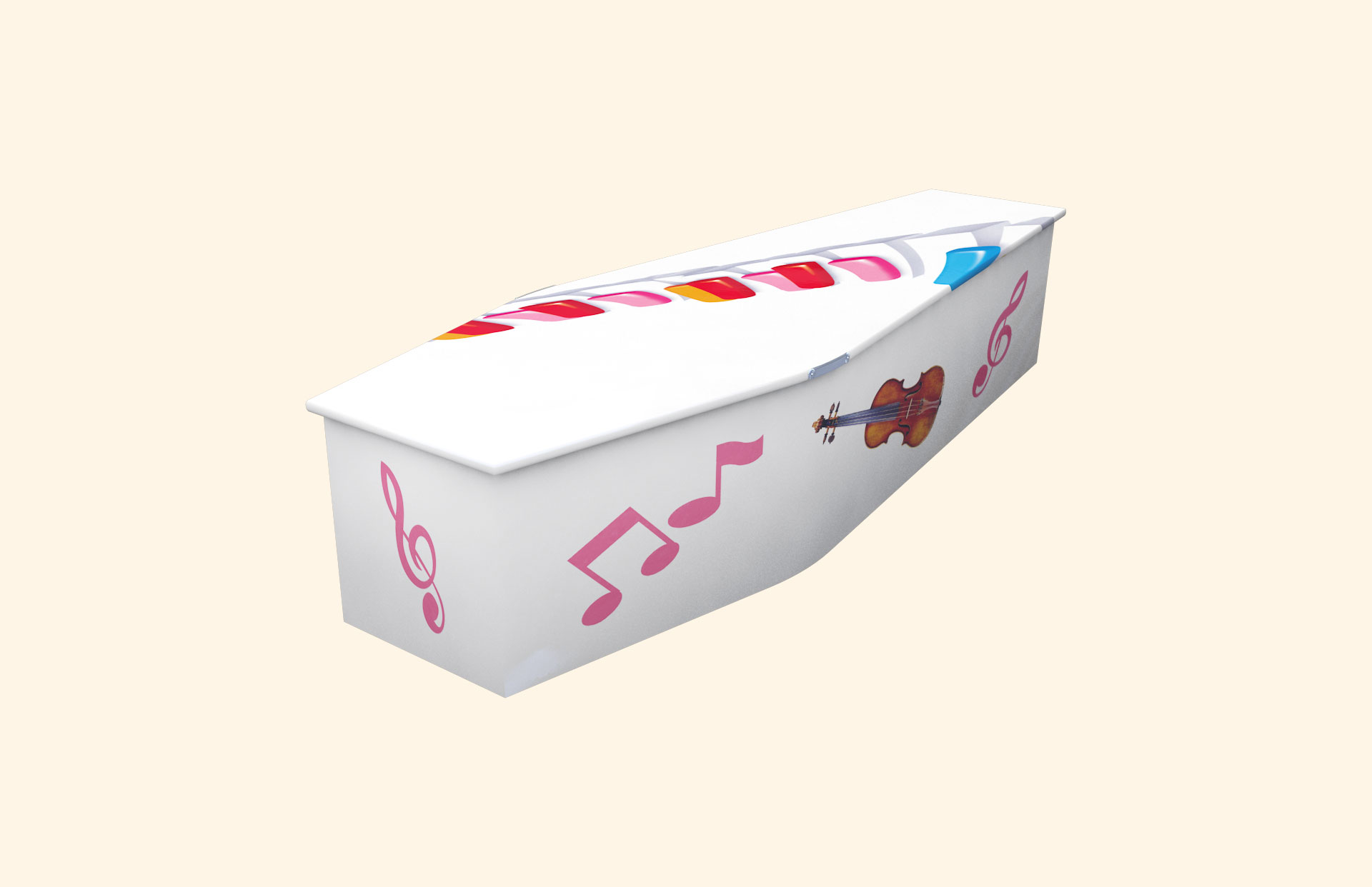 White with Music child coffin