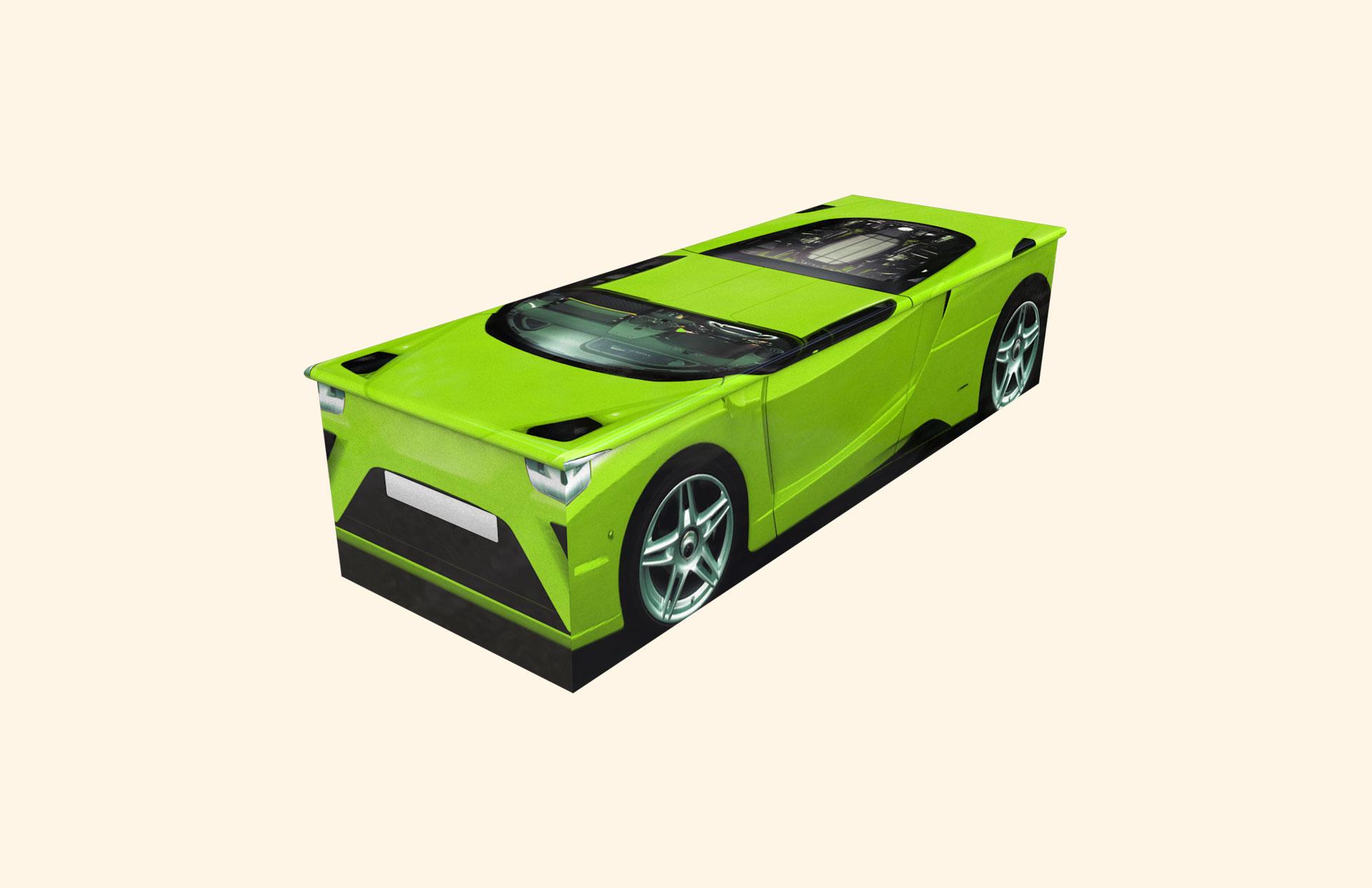 Duncans Car Green Child Casket