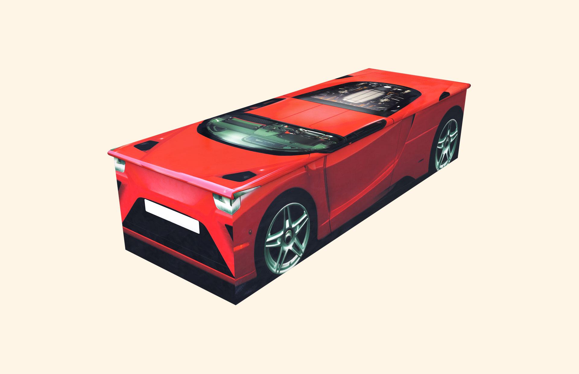 Duncans Car Red Child Casket
