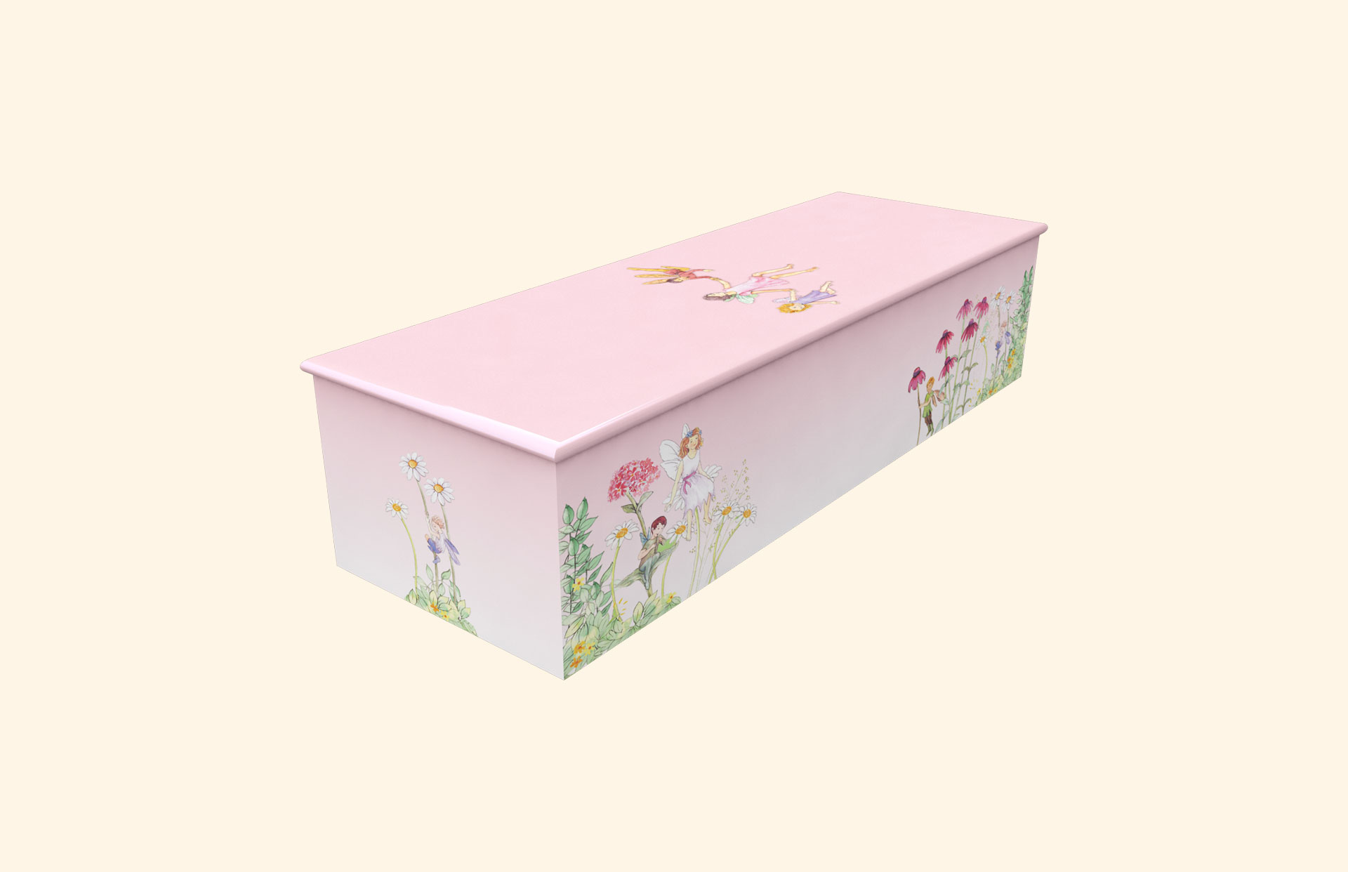 Fairyland Pink child casket