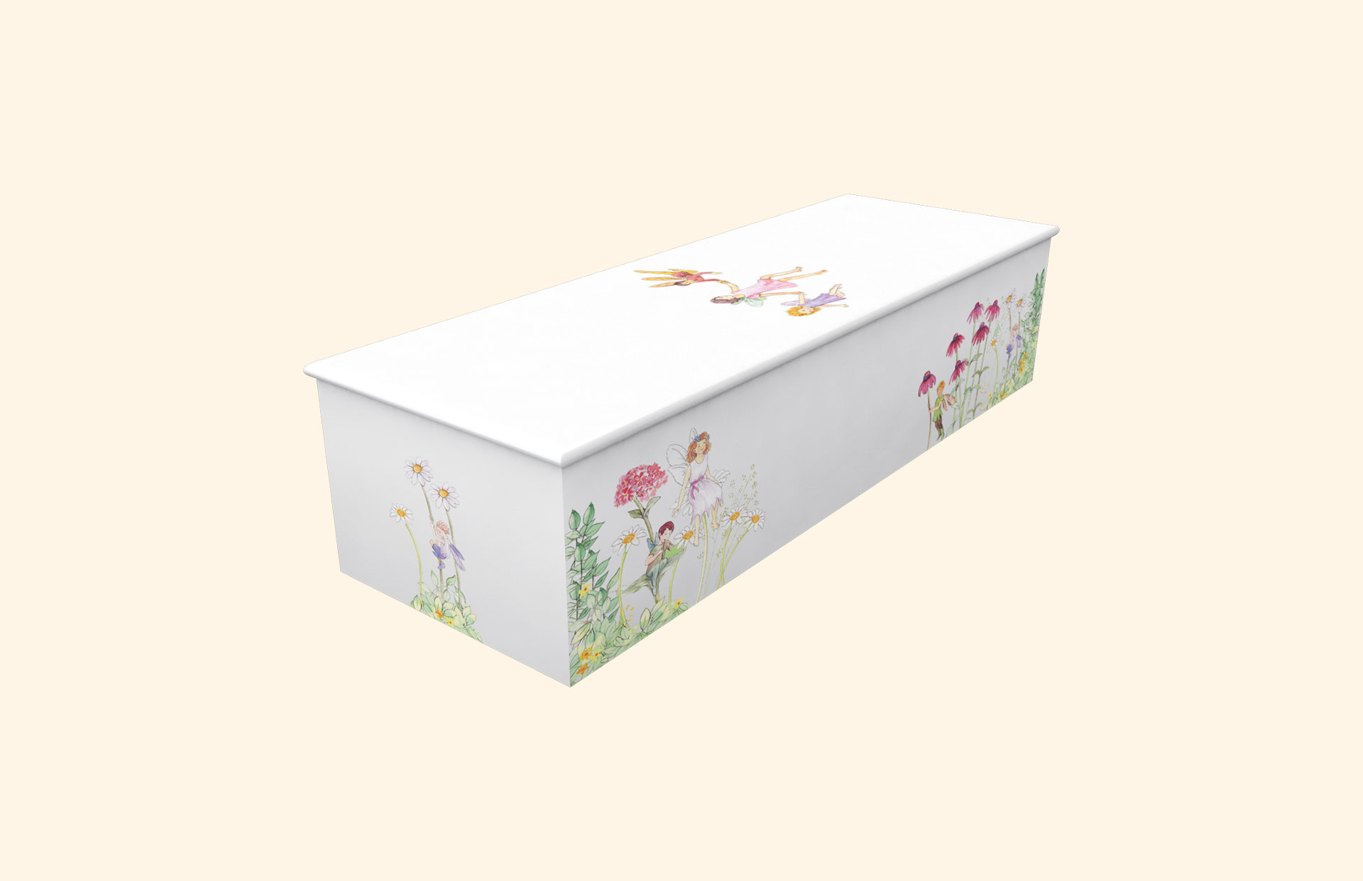 Fairyland White child casket