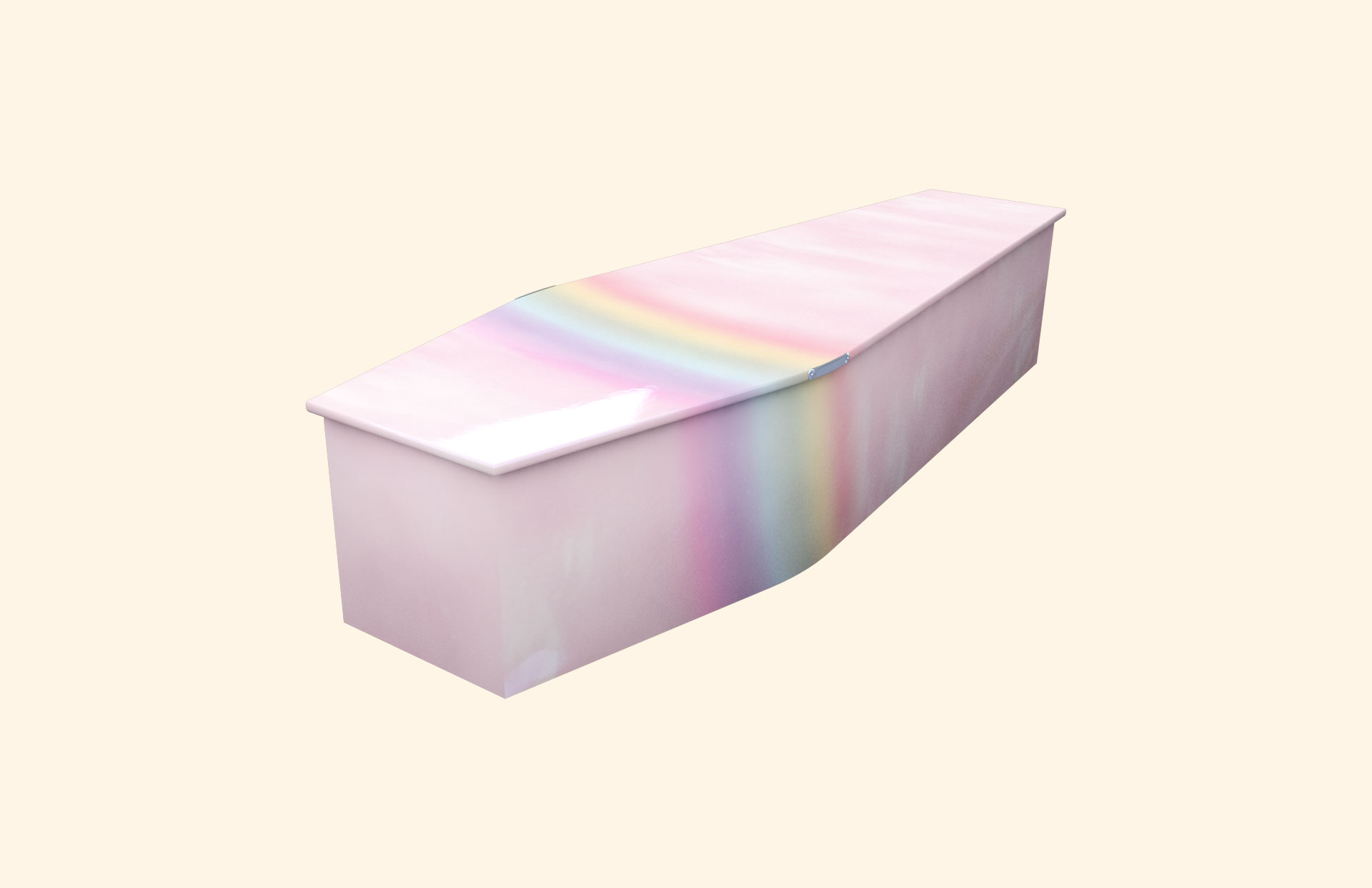 Rainbow on Pink Sky child coffin