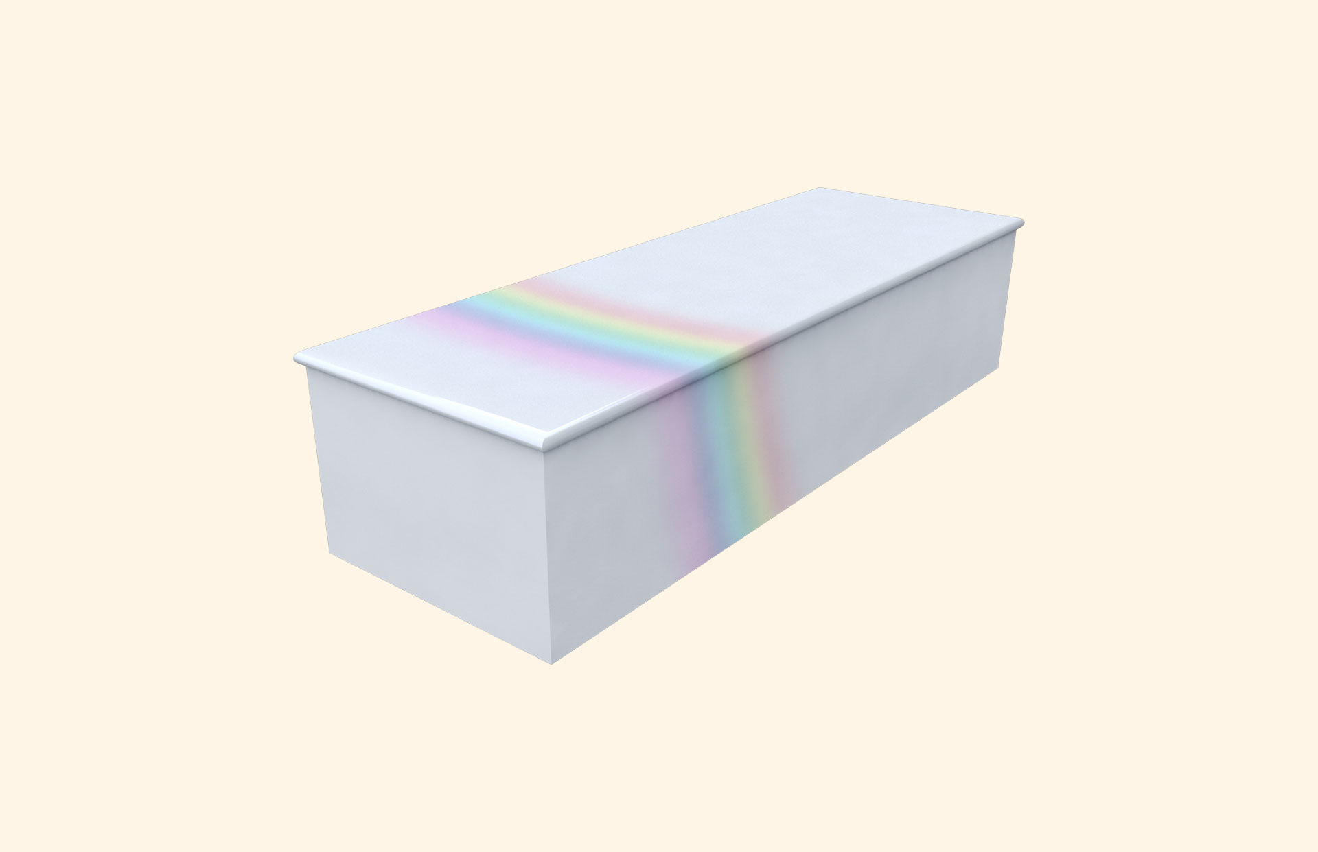 Rainbow on Blue child casket