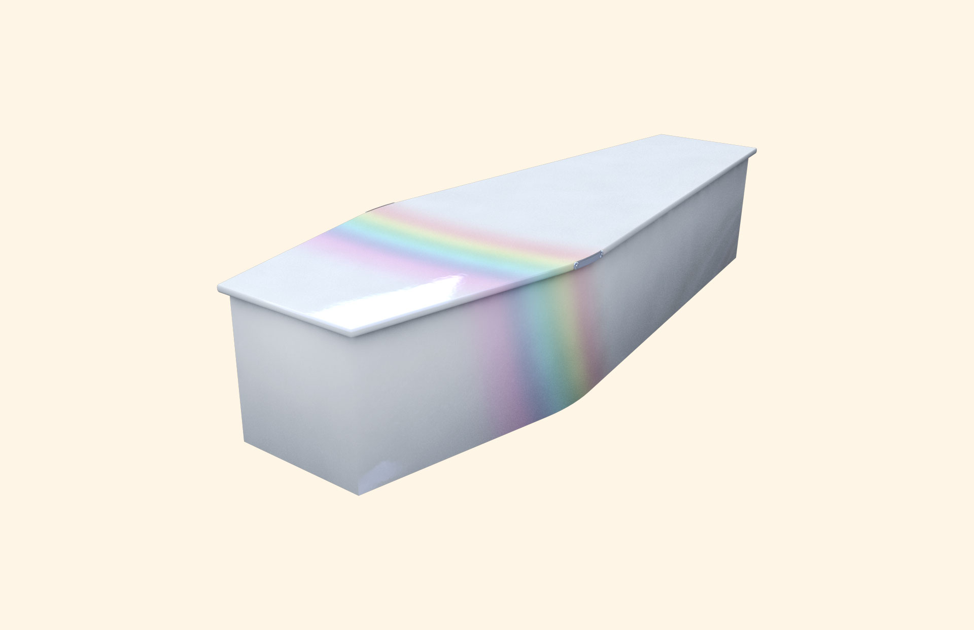 Rainbow on Blue child coffin