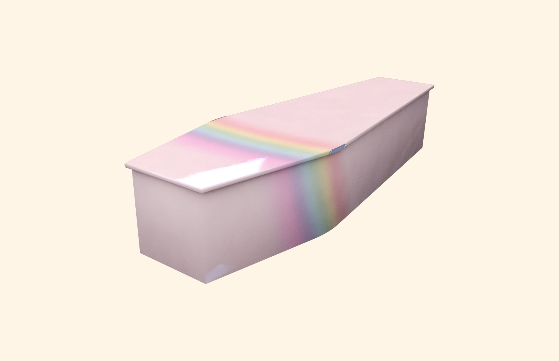Rainbow on Pink child coffin