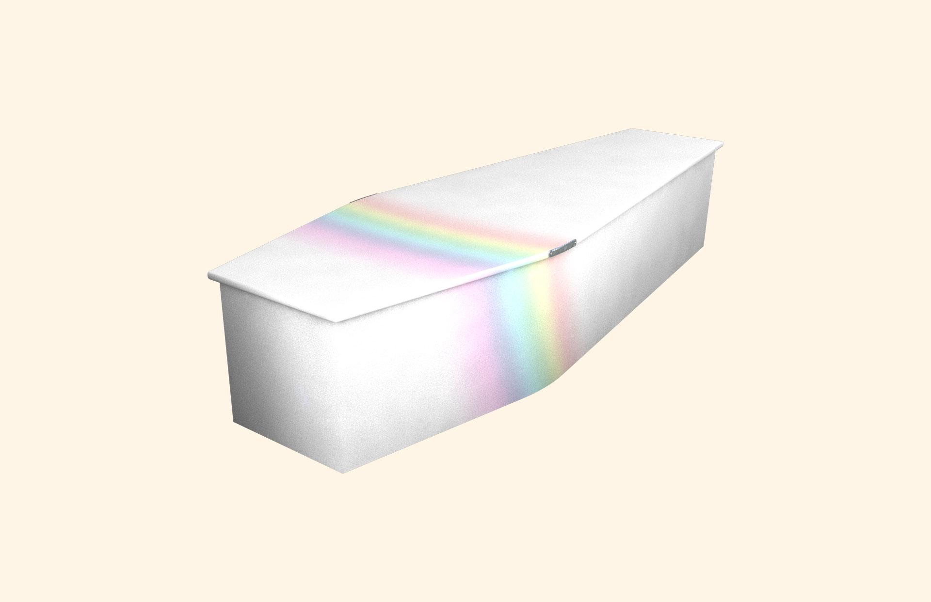 Rainbow on White child coffin