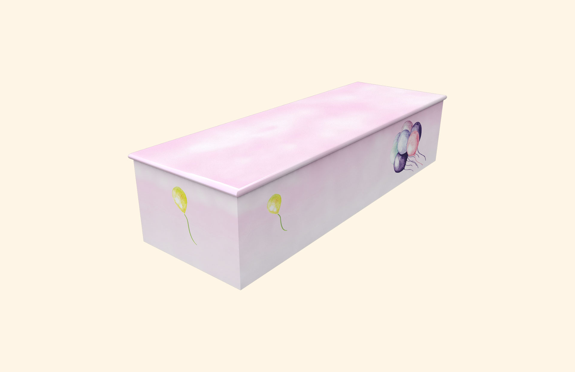 Balloons pink child casket