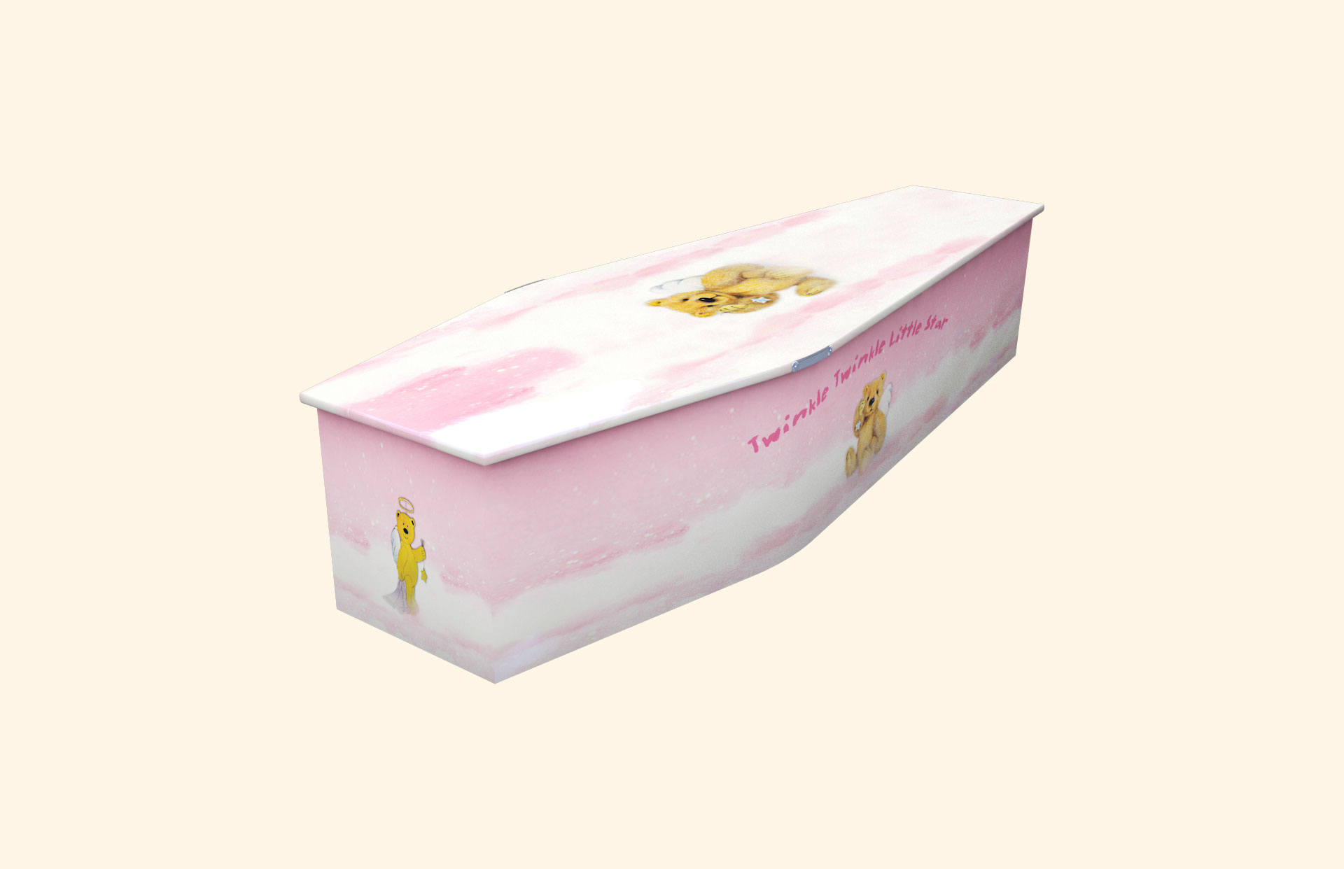 Twinkle Twinkle Little Star Pink child coffin