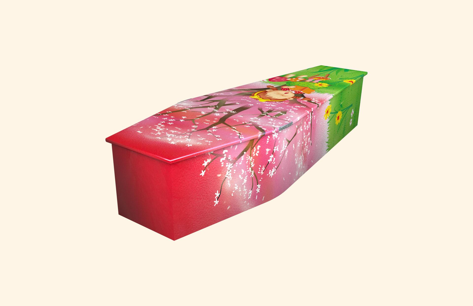Blossom child coffin