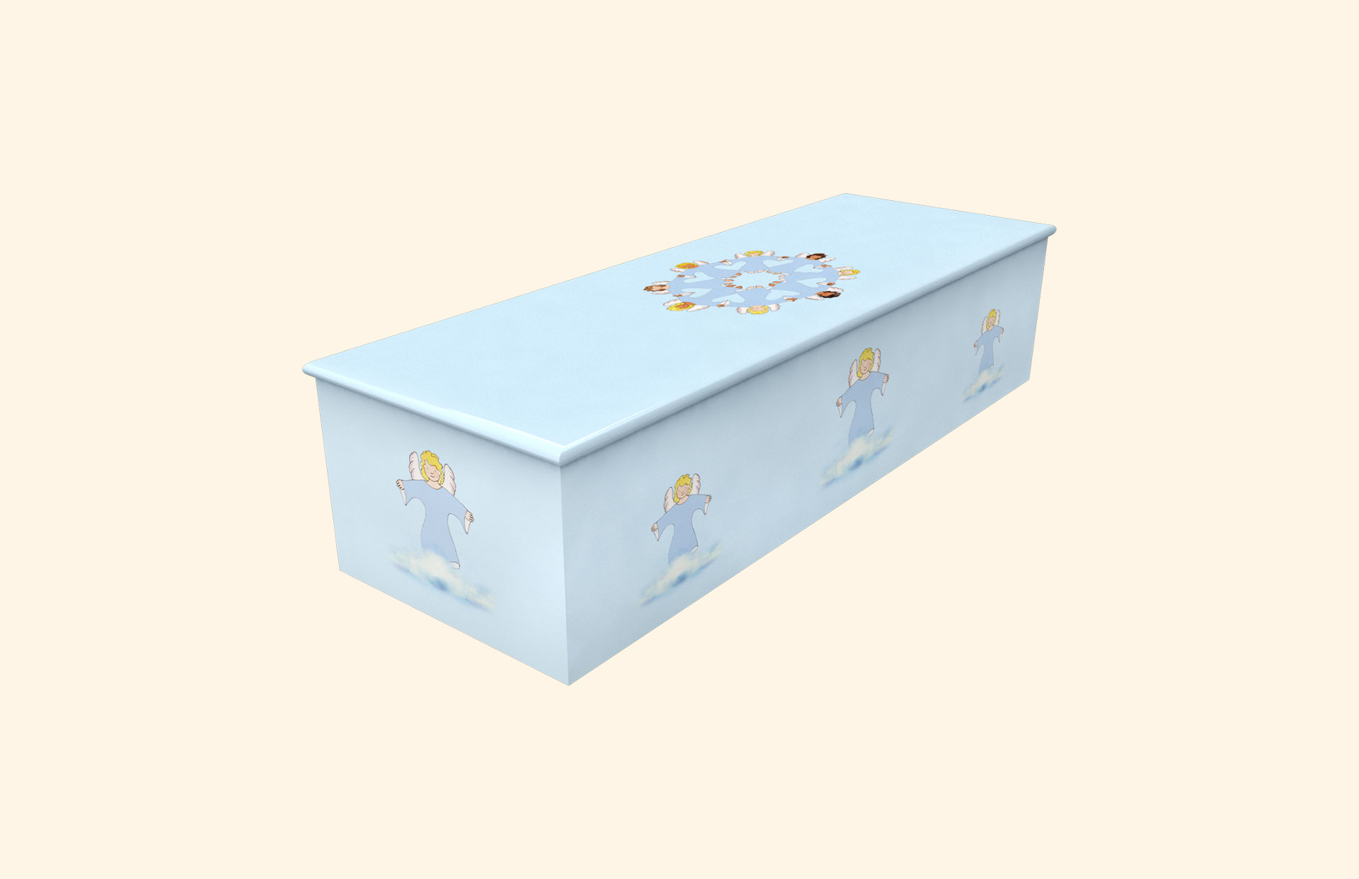 Angel Friends blue child casket