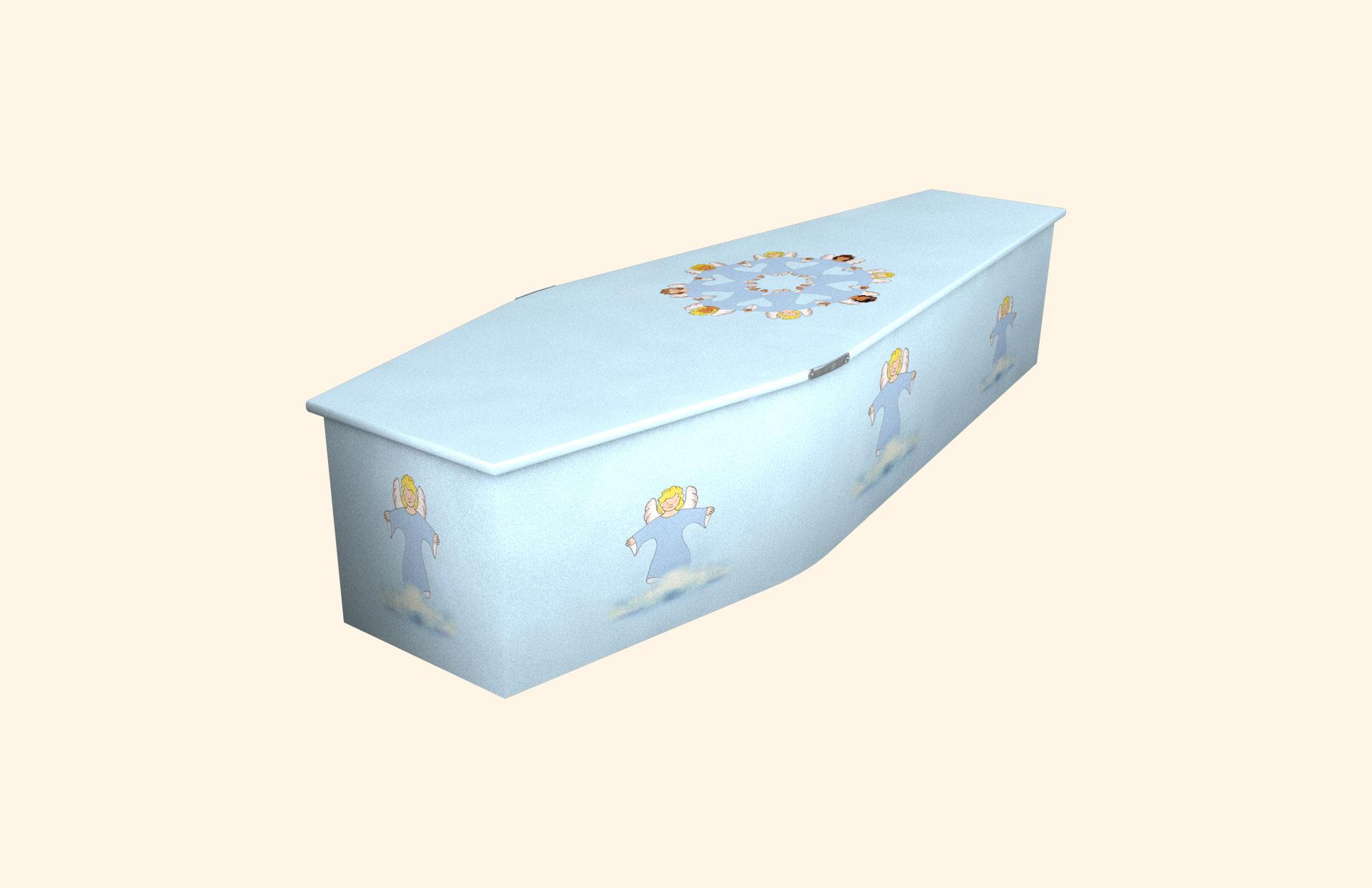 Angel Friends blue child coffin