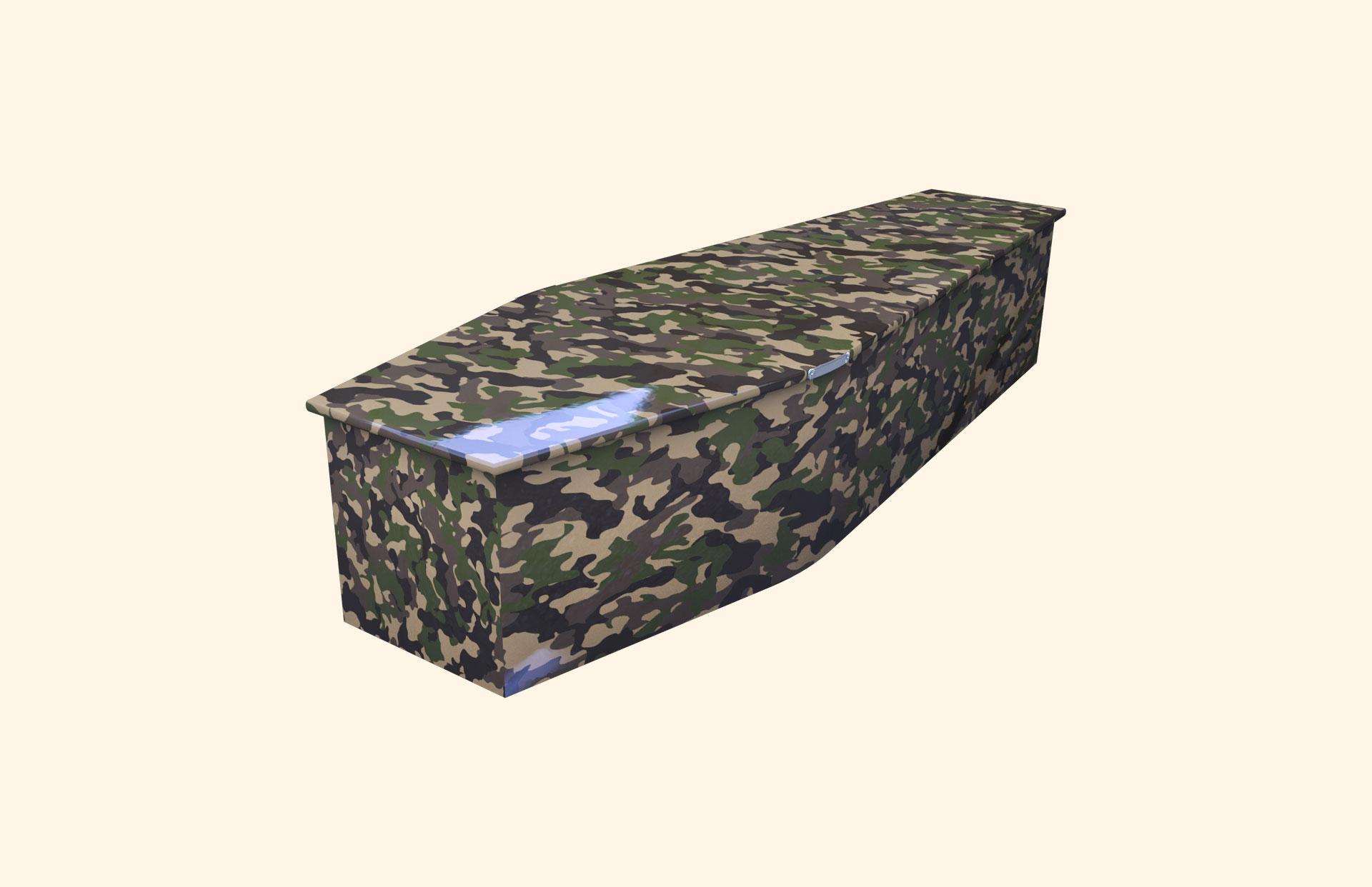 Camo Green child coffin