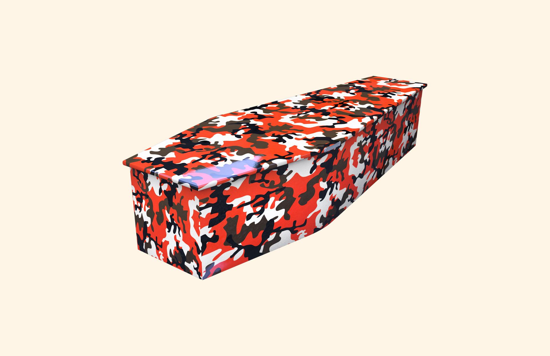 Camo Orange child coffin