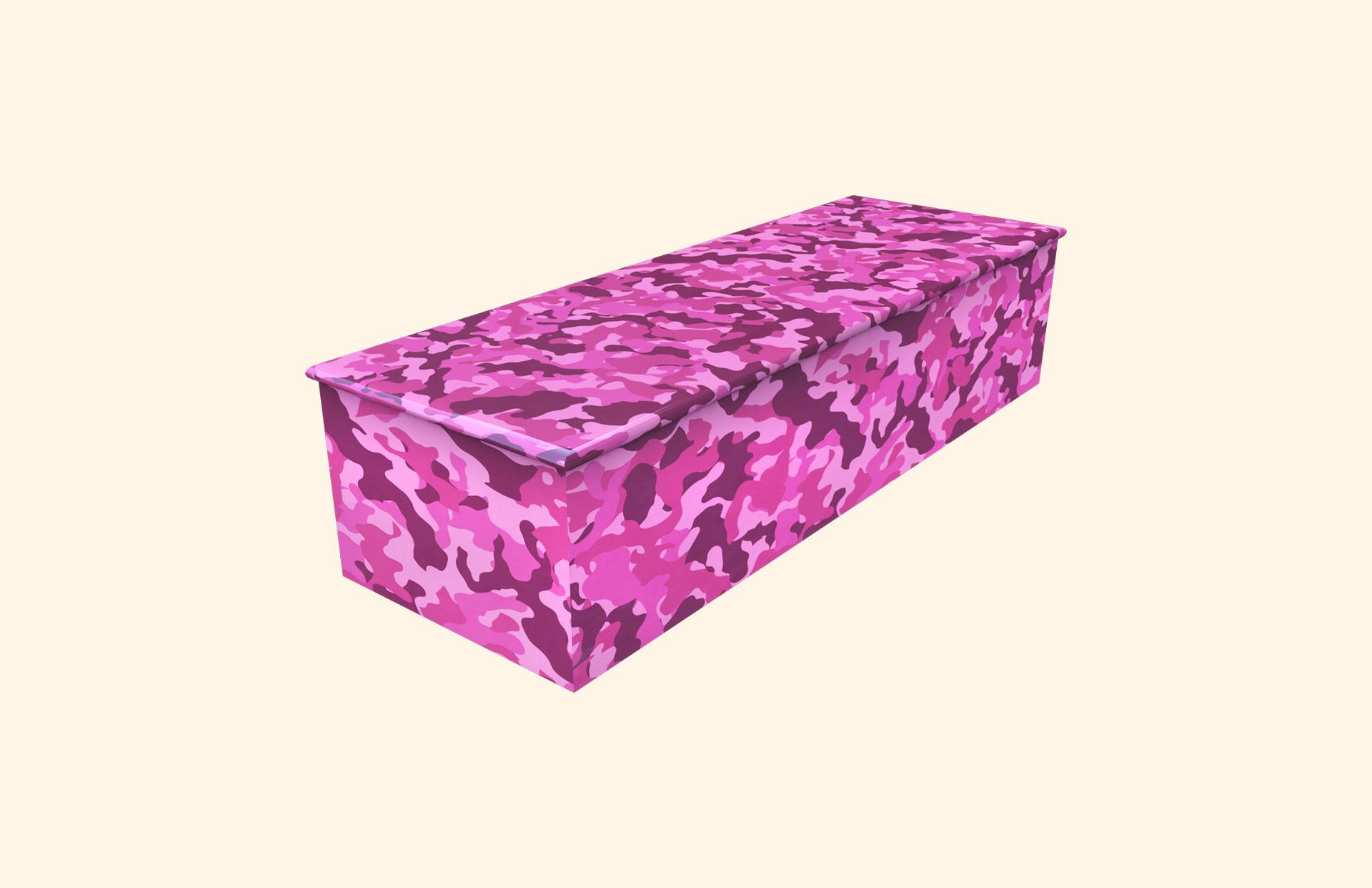 Camo Pink child casket